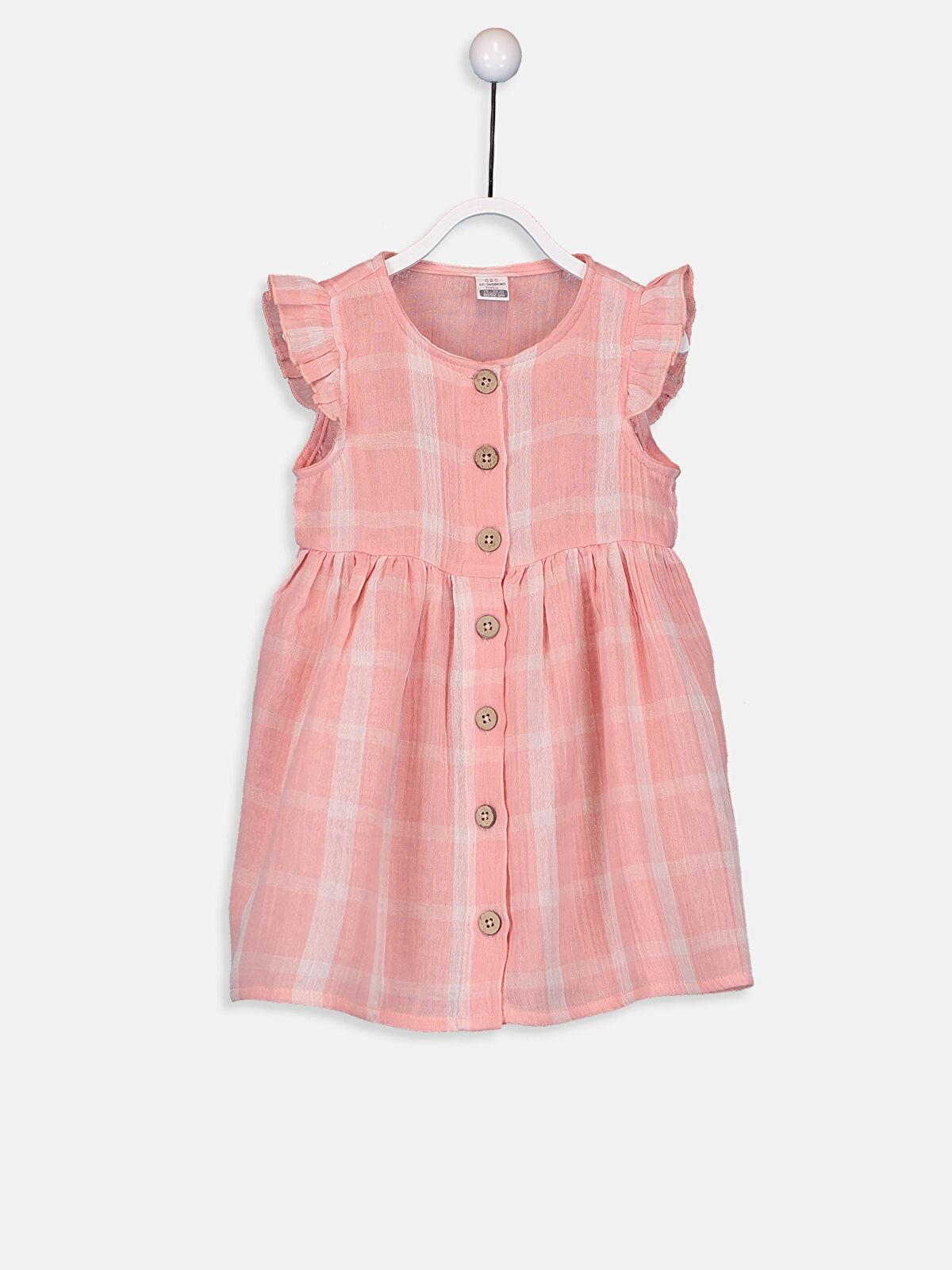 Kız Bebek Ekose Poplin Elbise - LC WAIKIKI