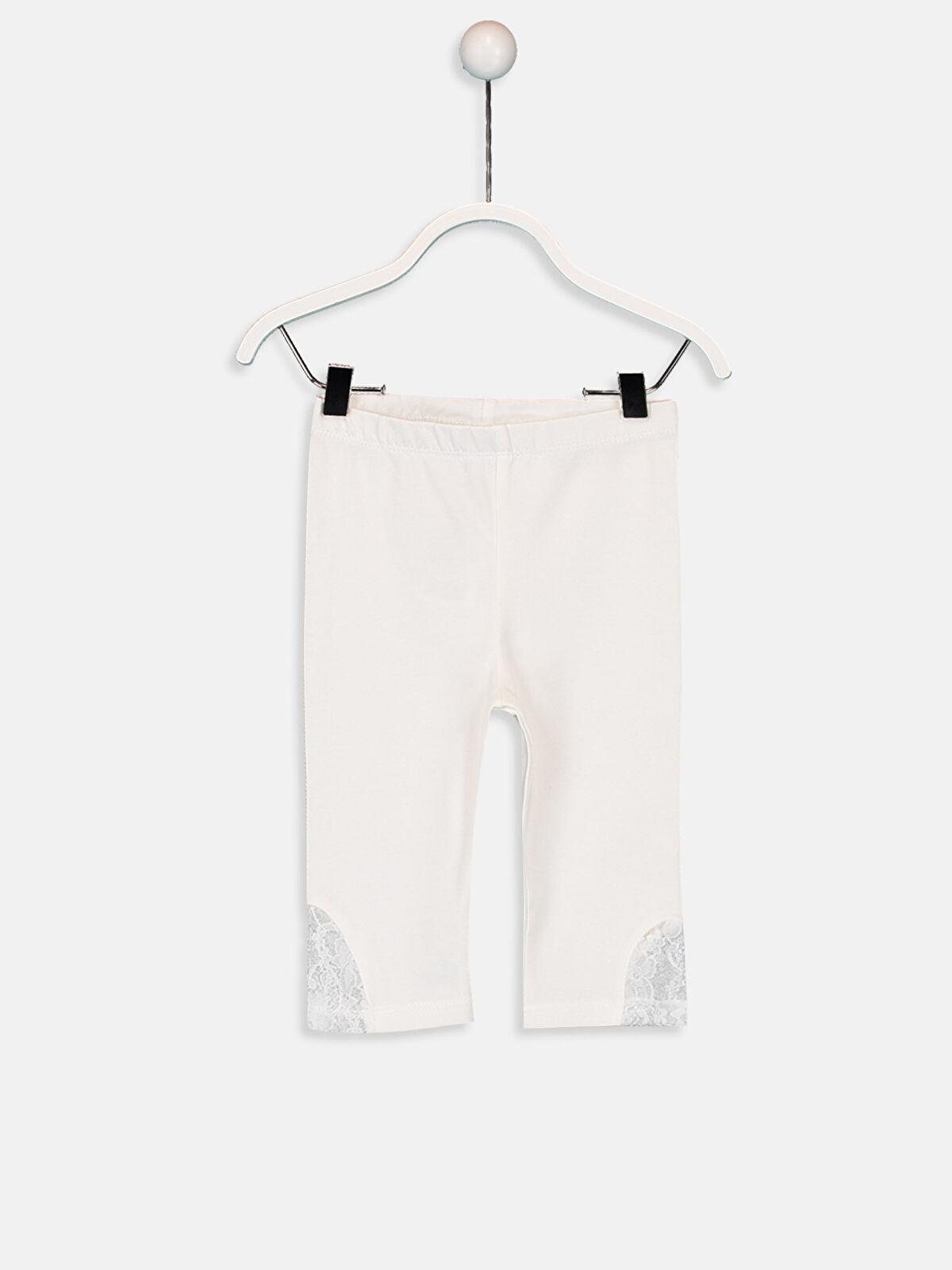 Kız Bebek Pamuklu 3/4 Boy Tayt - LC WAIKIKI