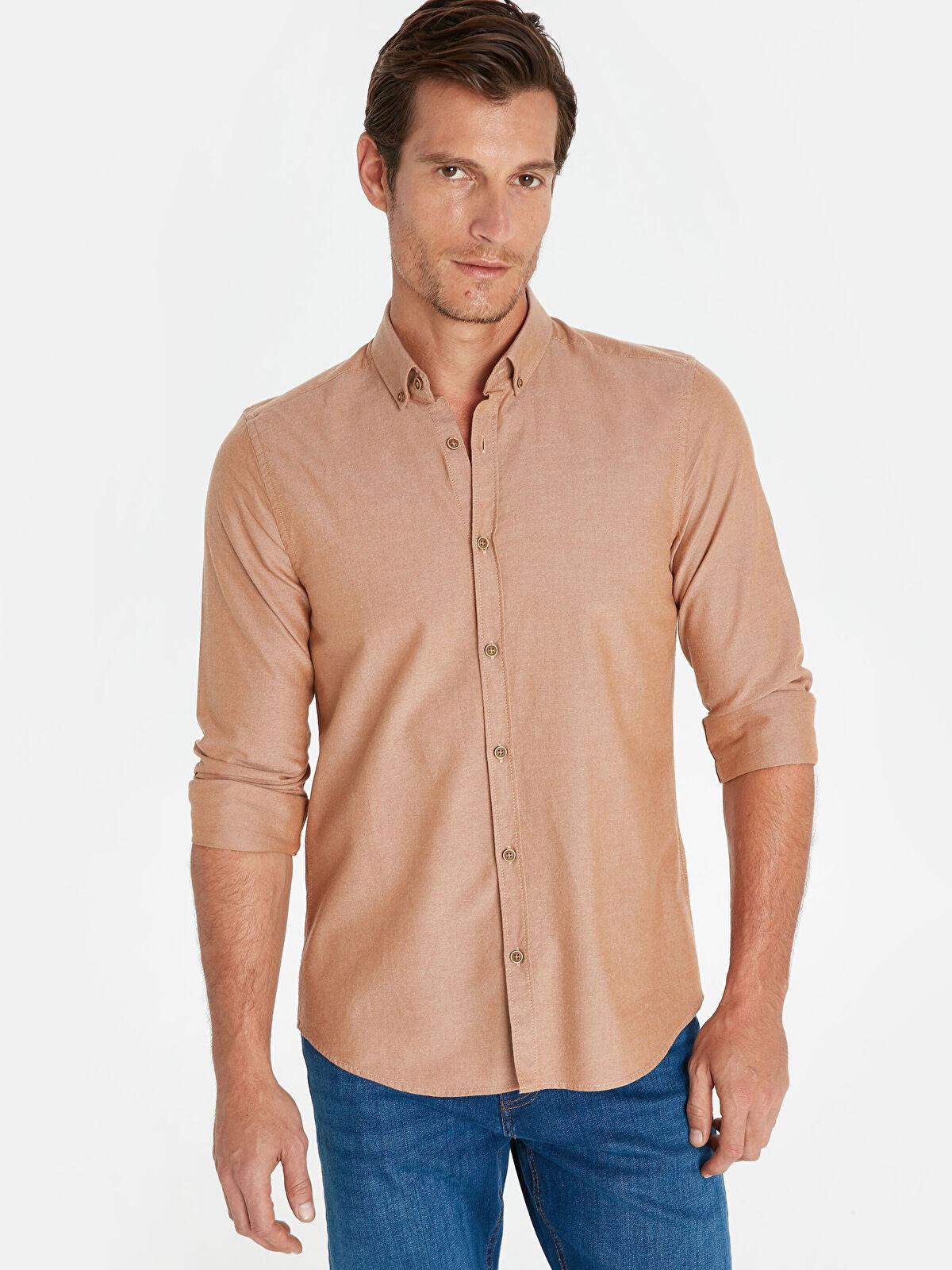 Slim Fit Oxford Basic Gömlek - LC WAIKIKI
