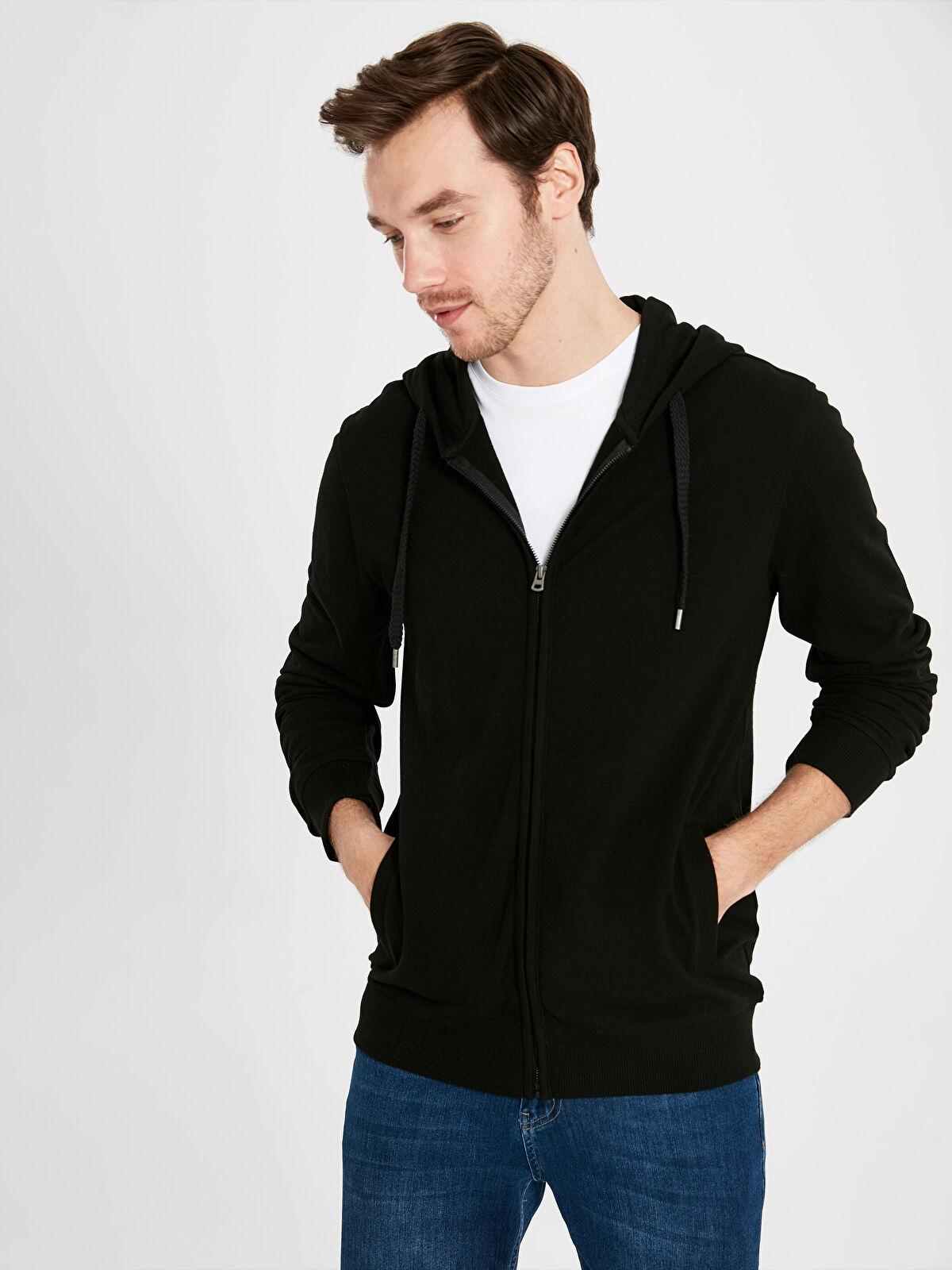 Rahat Kalıp Kapüşonlu Basic Sweatshirt - LC WAIKIKI