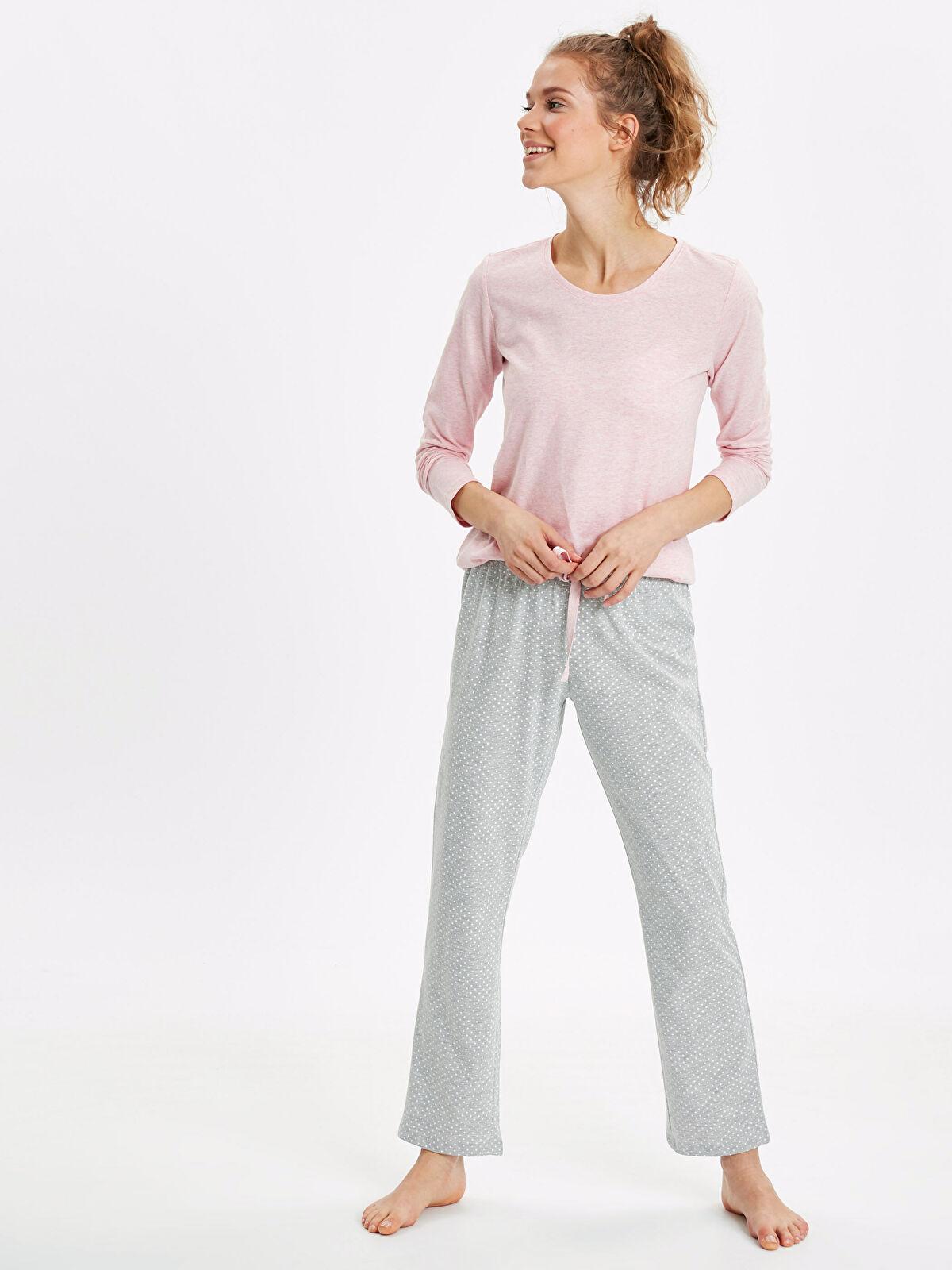 Puantiyeli Pijama Takımı - LC WAIKIKI