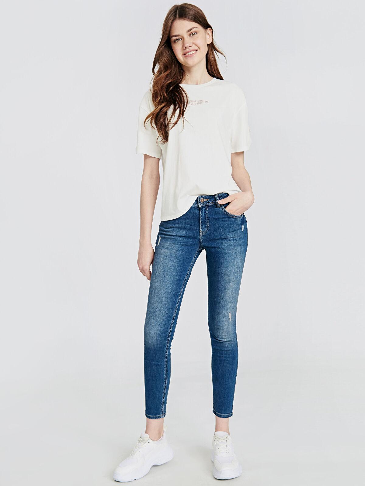 Sökük Detaylı Skinny Jean Pantolon - LC WAIKIKI