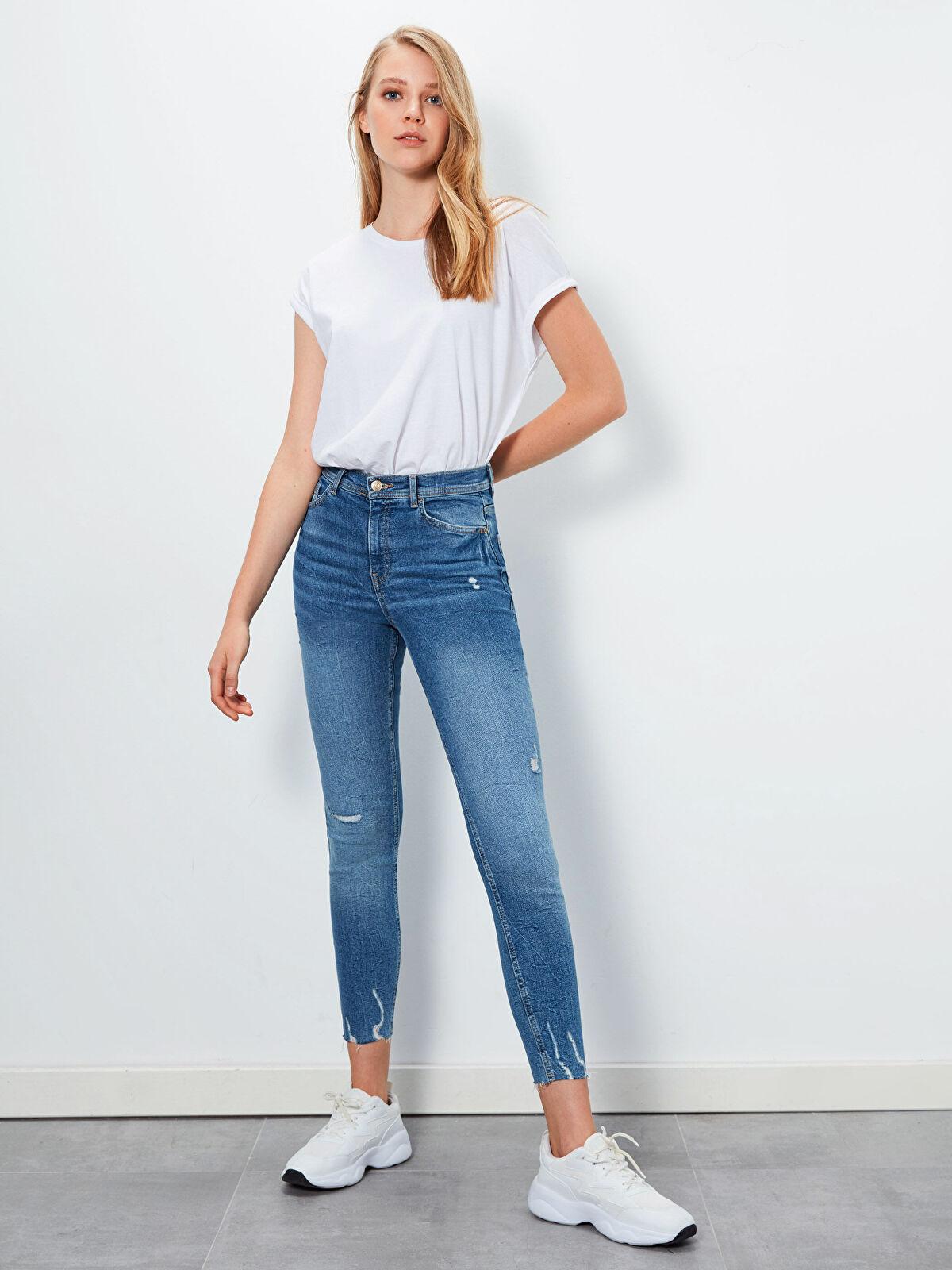 Sökük Detaylı Super Skinny Jean Pantolon - LC WAIKIKI