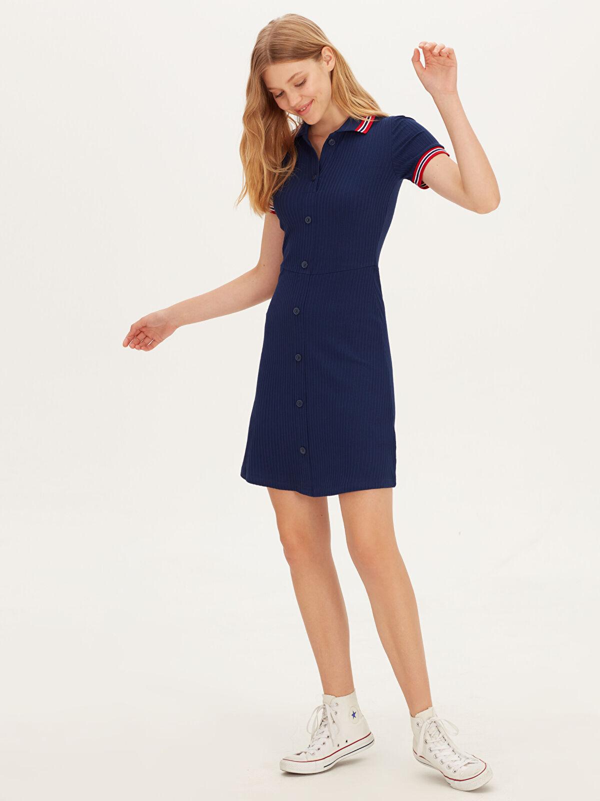 Esnek Mini Gömlek Elbise - LC WAIKIKI