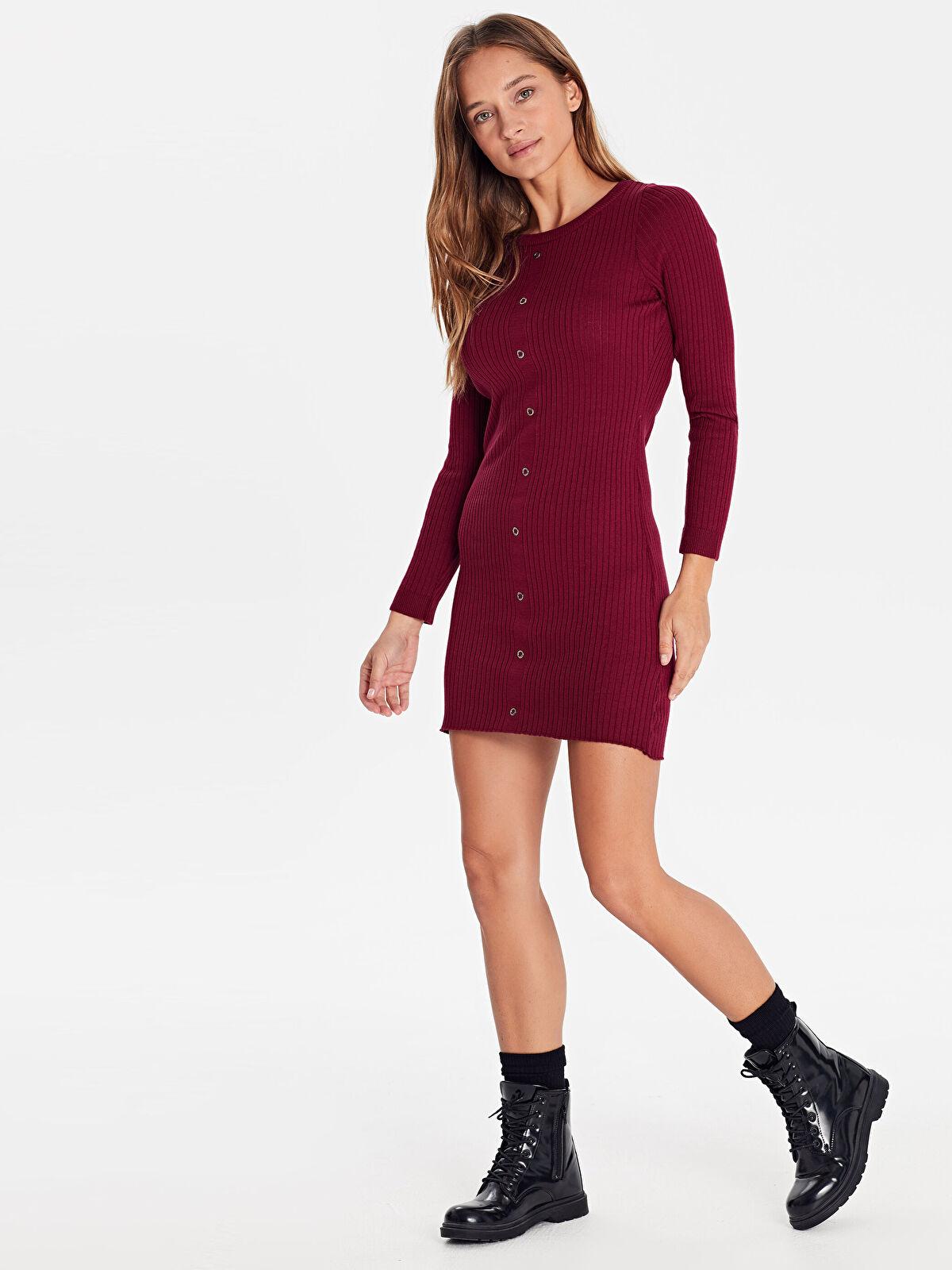 Esnek Mini Triko Elbise - LC WAIKIKI