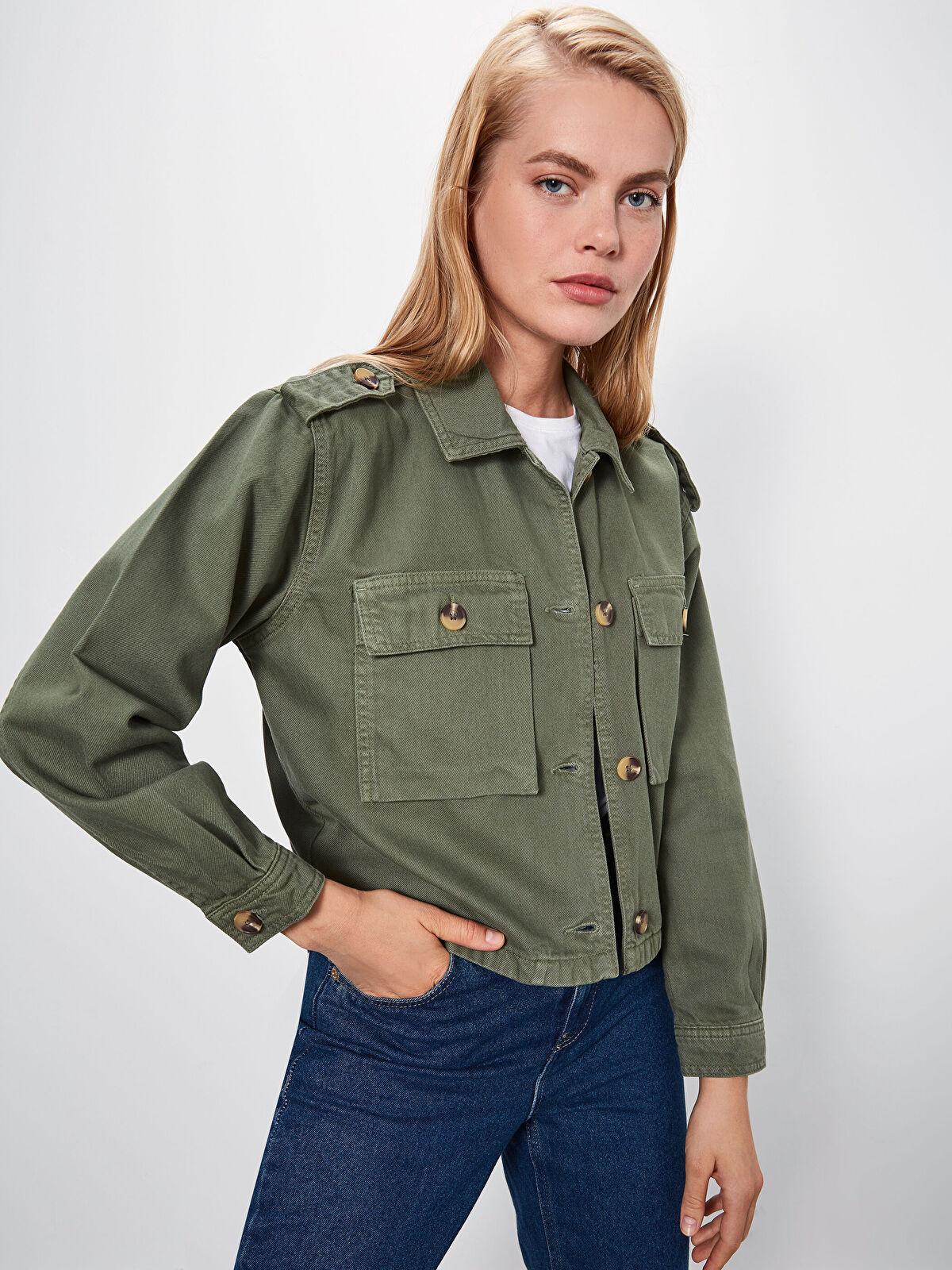 Cep Detaylı Kısa Jean Ceket - LC WAIKIKI
