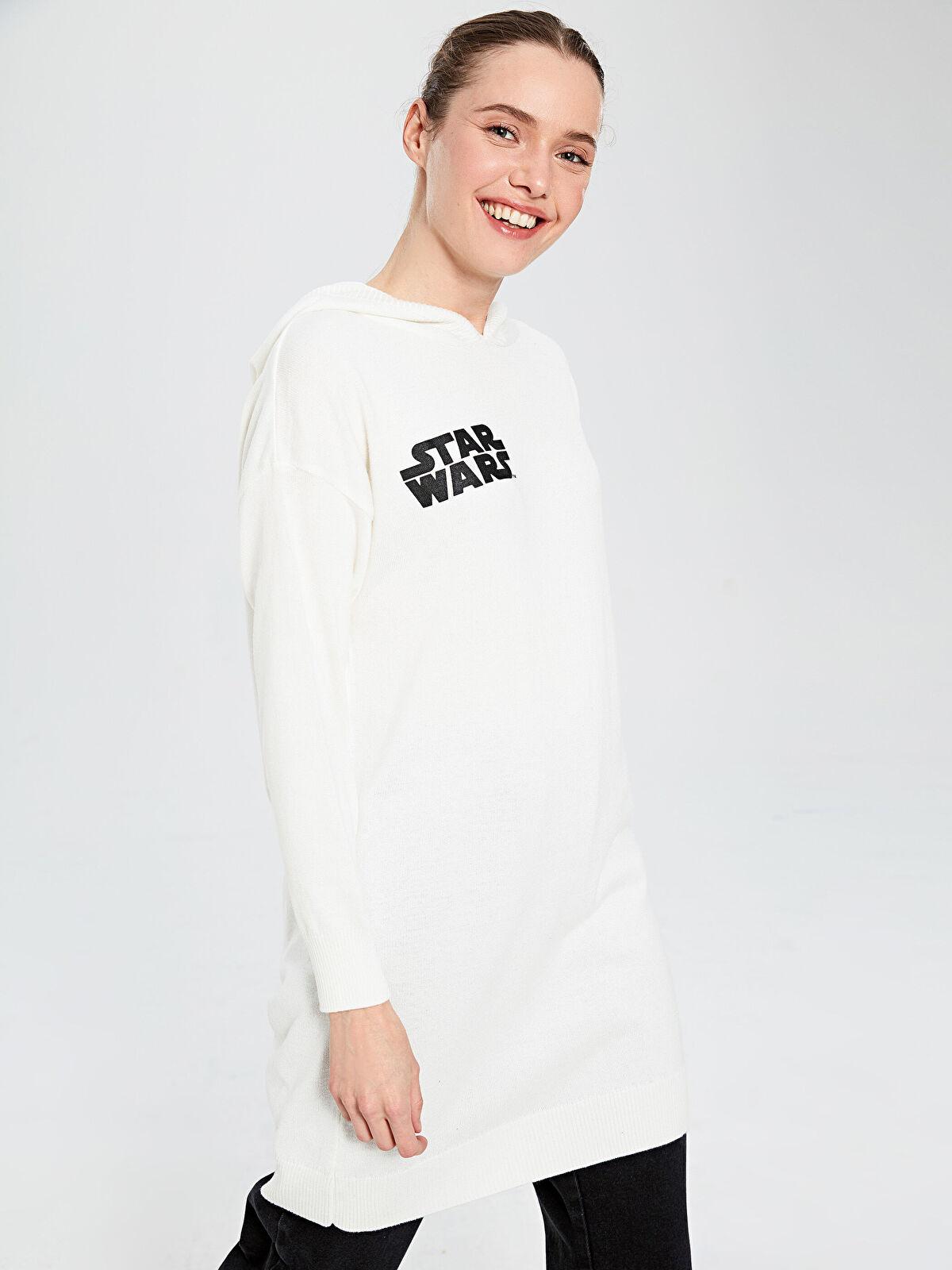 Star Wars Baskılı Kapüşonlu Triko Tunik - LC WAIKIKI