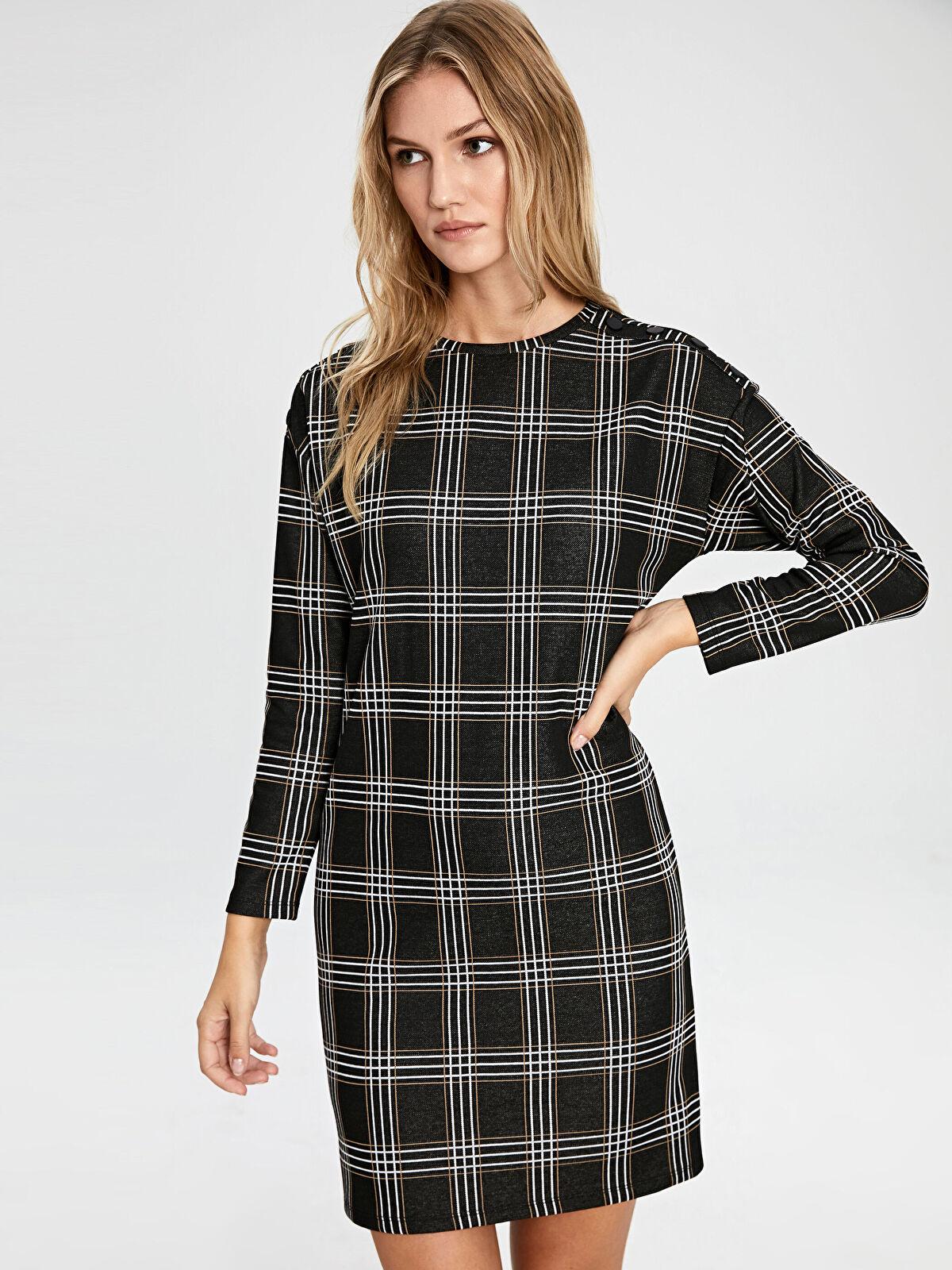 Mini Ekose Elbise - LC WAIKIKI