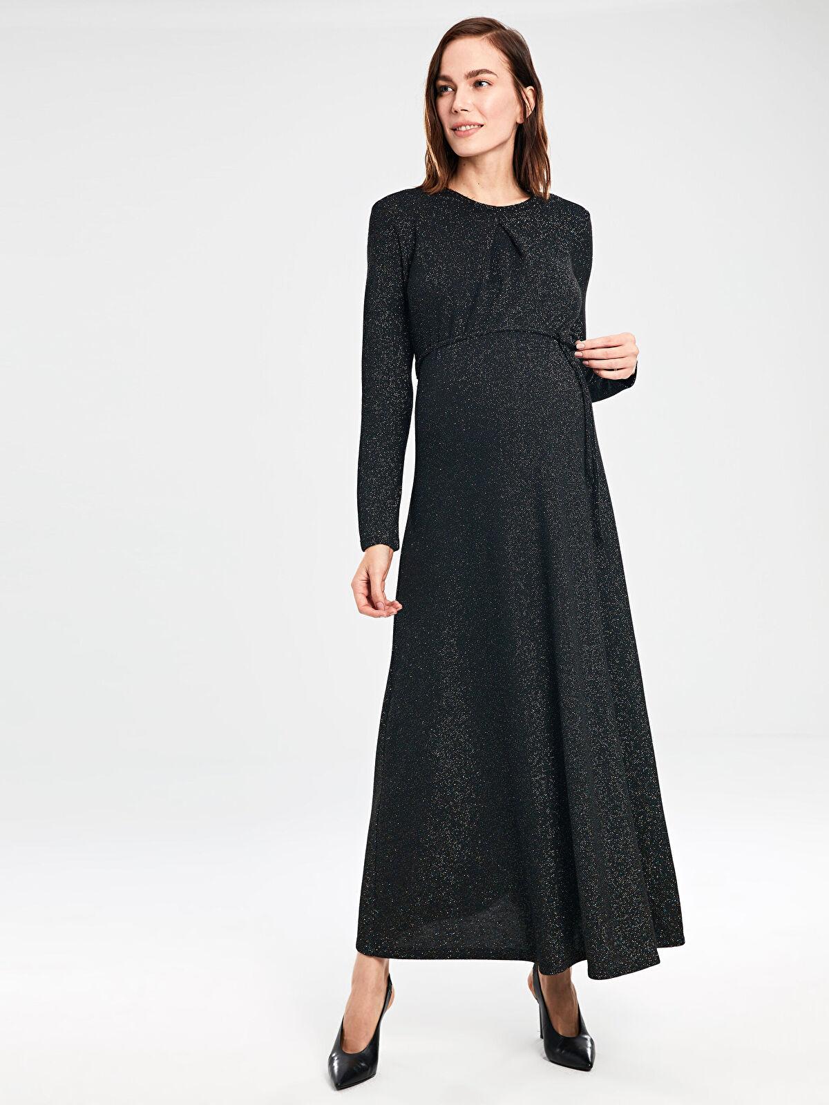 Işıltılı Uzun Abiye Hamile Elbisesi - LC WAIKIKI