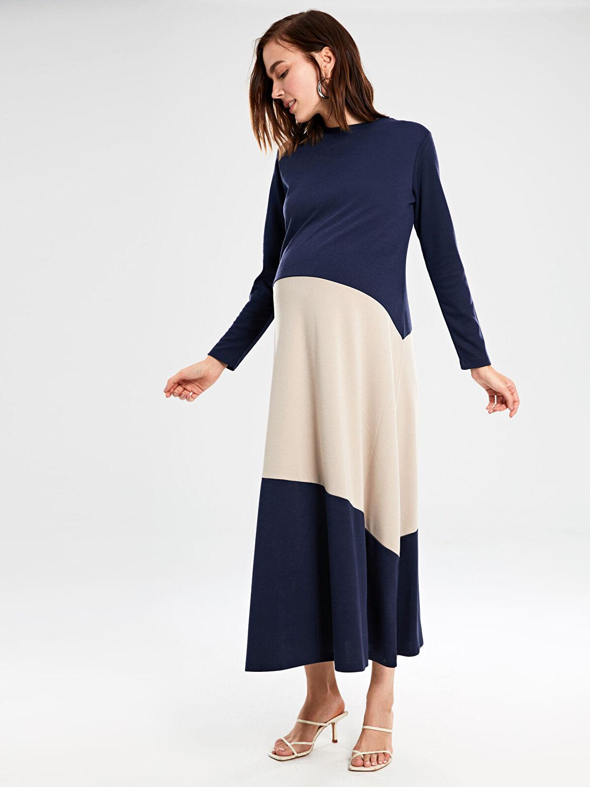 Renk Bloklu Hamile Elbise - LC WAIKIKI