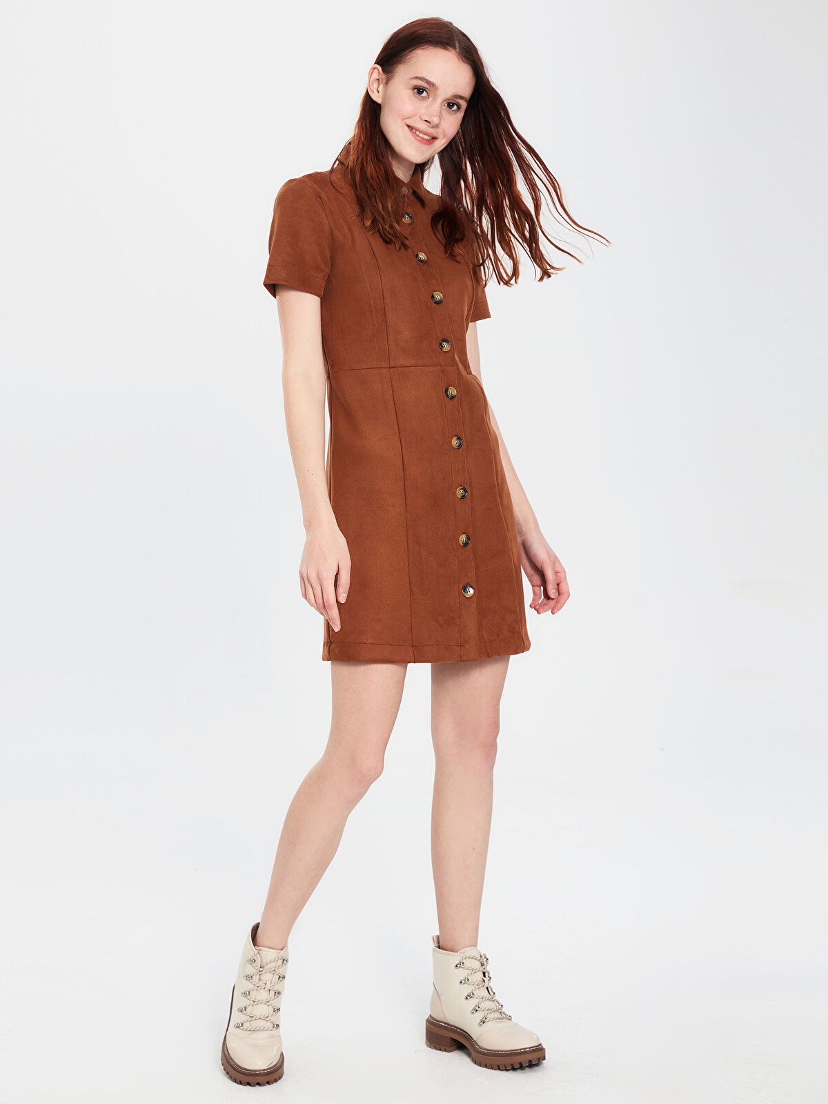 Esnek Düğme Detaylı Elbise - LC WAIKIKI