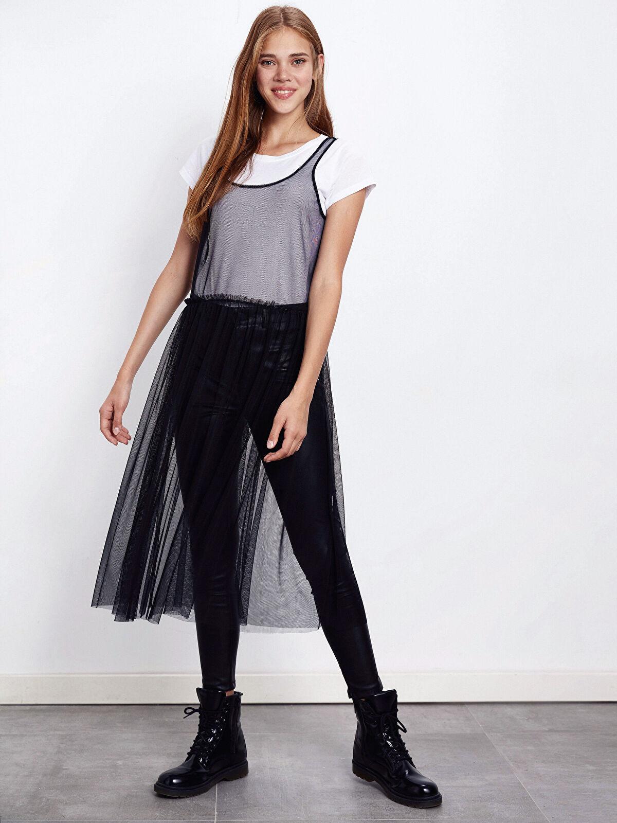 Askılı Tül Elbise - LC WAIKIKI