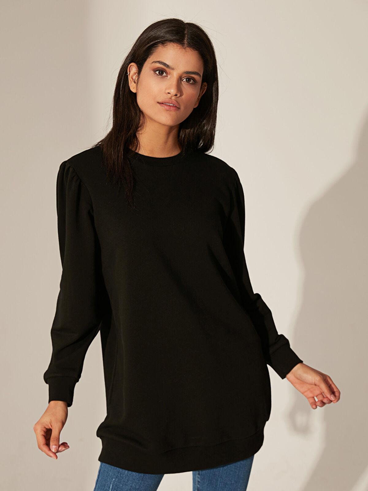 Düz Basic Oversize Sweatshirt - LC WAIKIKI