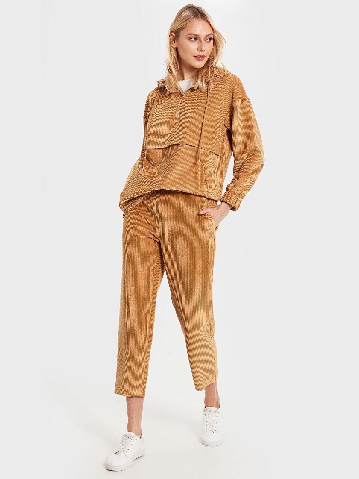 İkol Bilek Boy Kadife Pantolon - Markalar