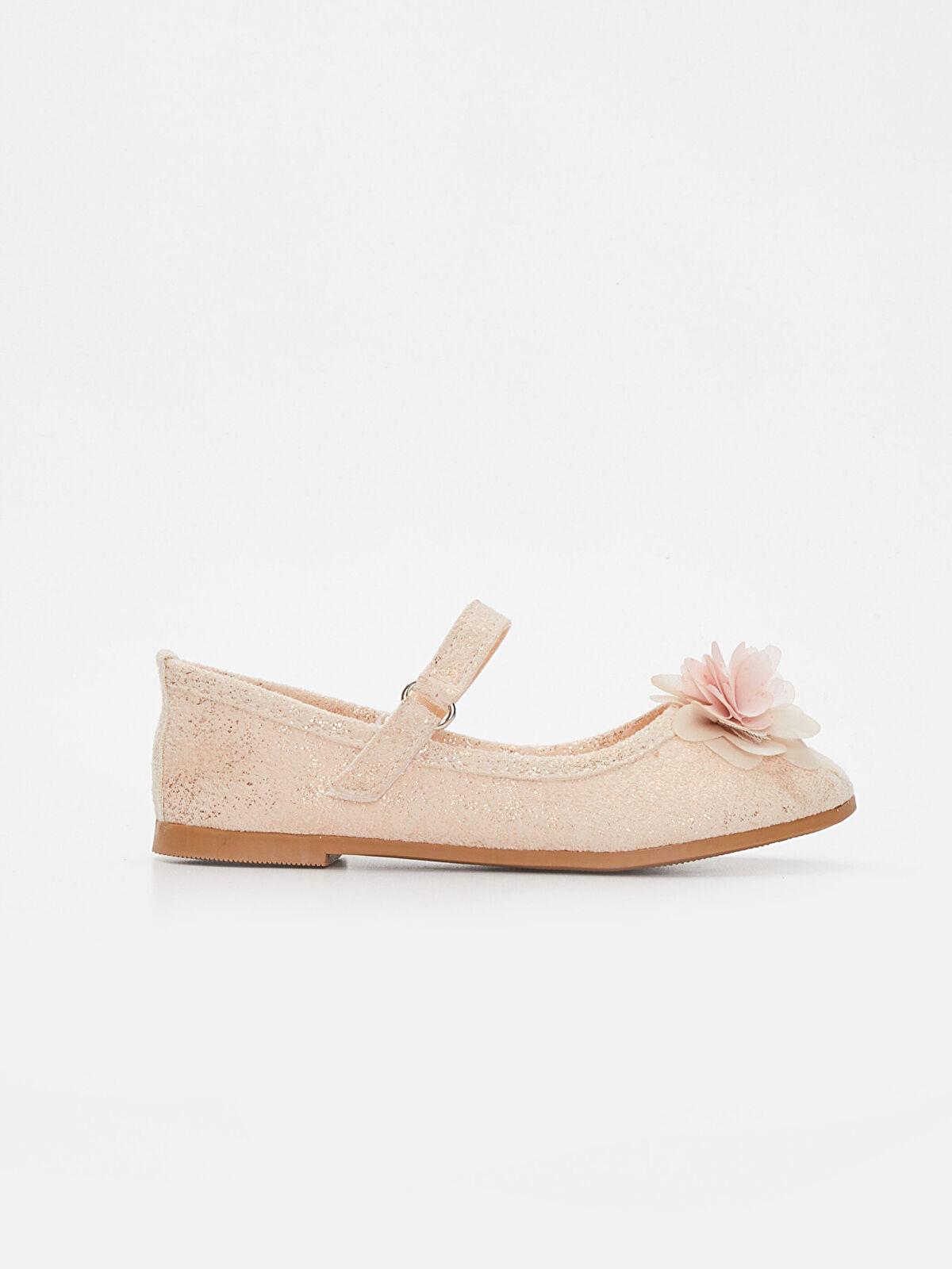 Kız Çocuk Çiçekli Babet Ayakkabı - LC WAIKIKI