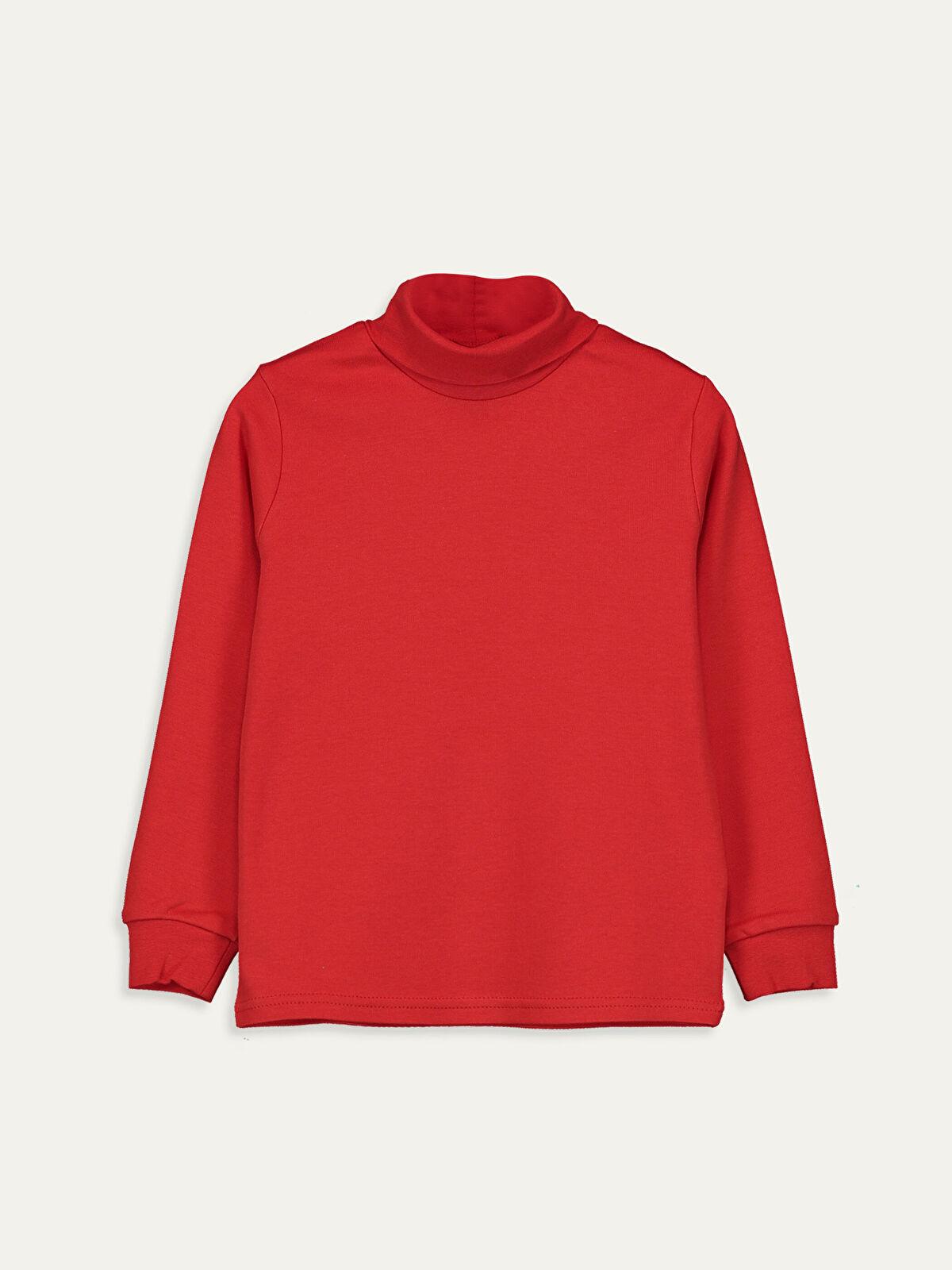 Erkek Çocuk Pamuklu Uzun Kollu Basic Tişört - LC WAIKIKI