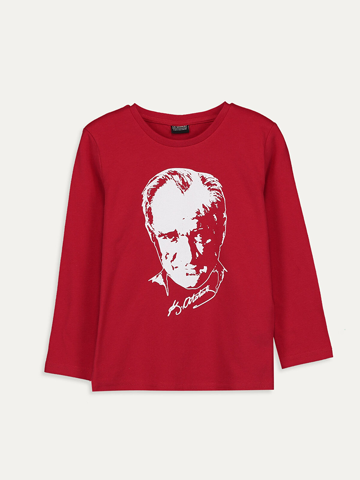 Erkek Çocuk Atatürk Baskılı Pamuklu Tişört - LC WAIKIKI