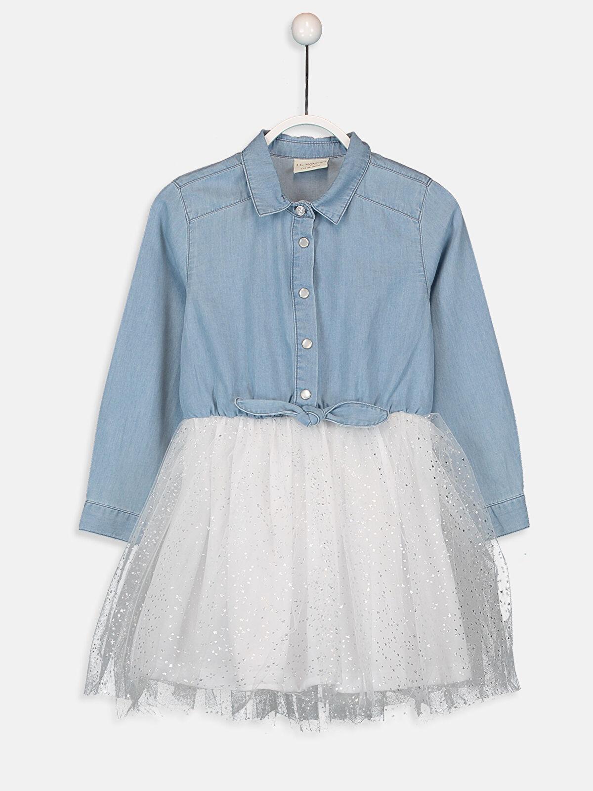 Kız Çocuk Tütü Jean Elbise - LC WAIKIKI