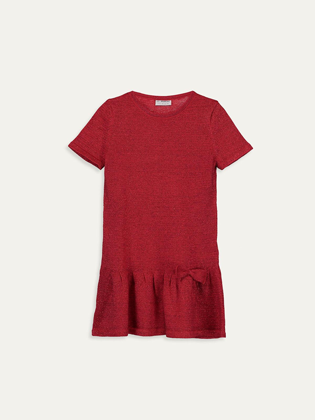 Kız Çocuk Fiyonk Detaylı Triko Elbise - LC WAIKIKI