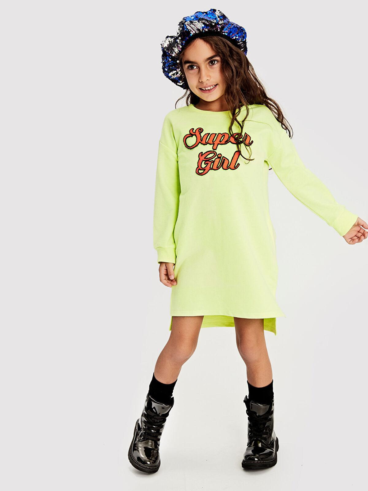 Kız Çocuk Sweatshirt Elbise - LC WAIKIKI