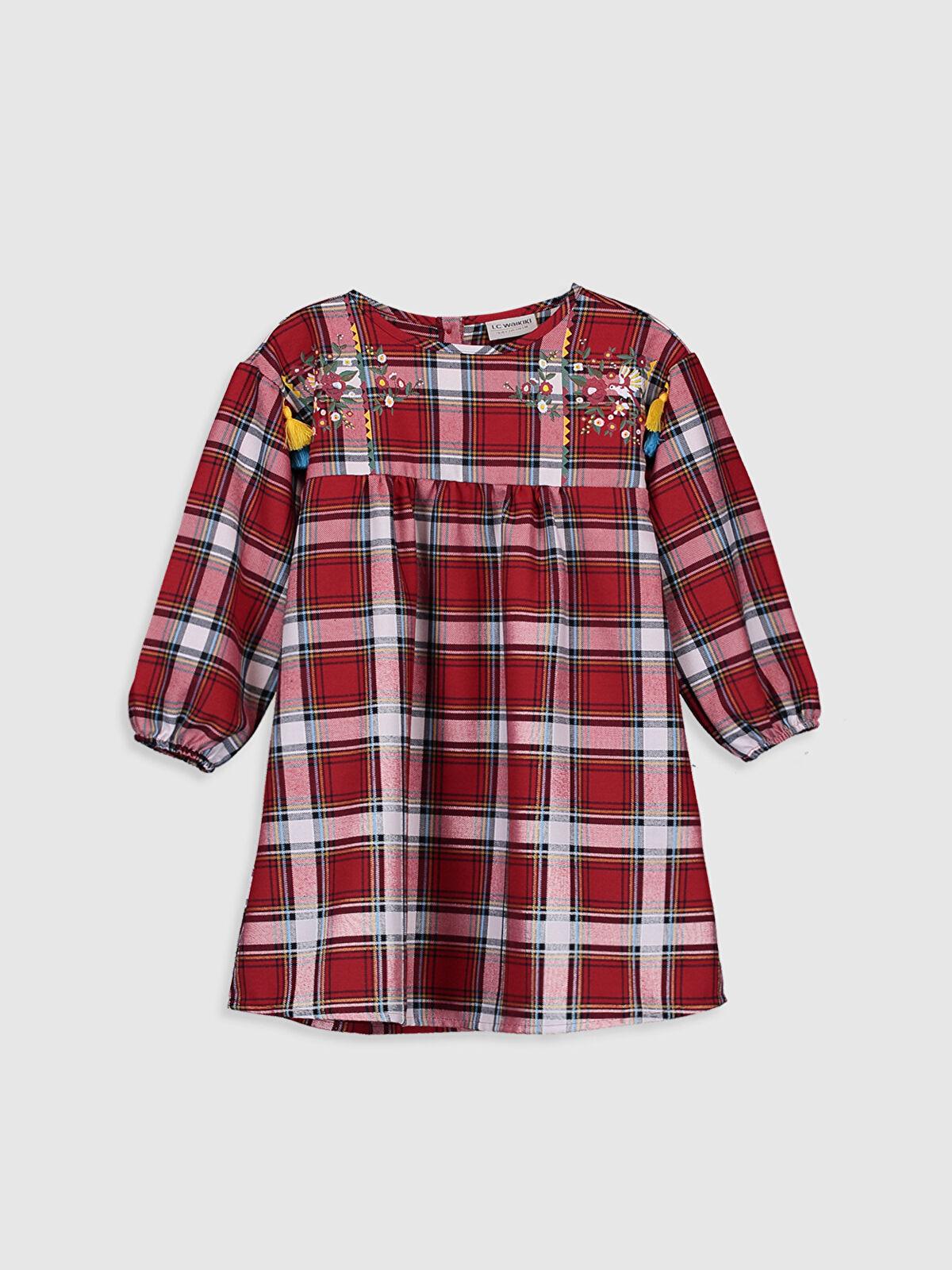 Kız Çocuk Flanel Ekose Elbise - LC WAIKIKI