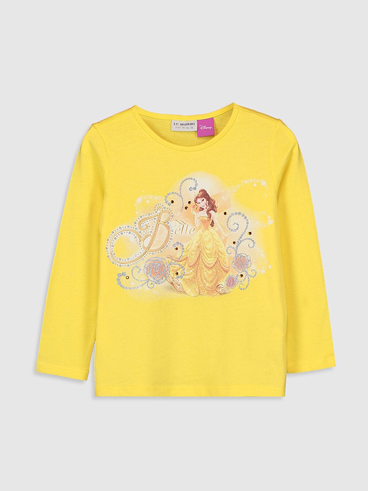 Kız Çocuk Bella Baskılı Pamuklu Tişört - LC WAIKIKI