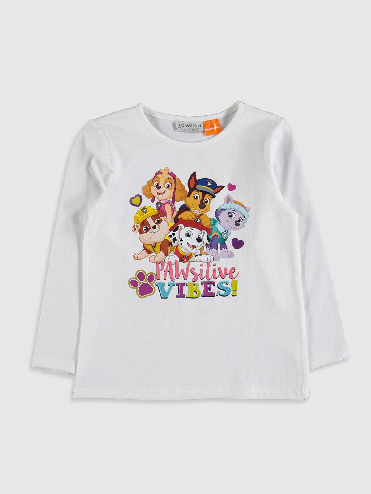 Kız Çocuk Paw Patrol Baskılı Pamuklu Tişört - LC WAIKIKI