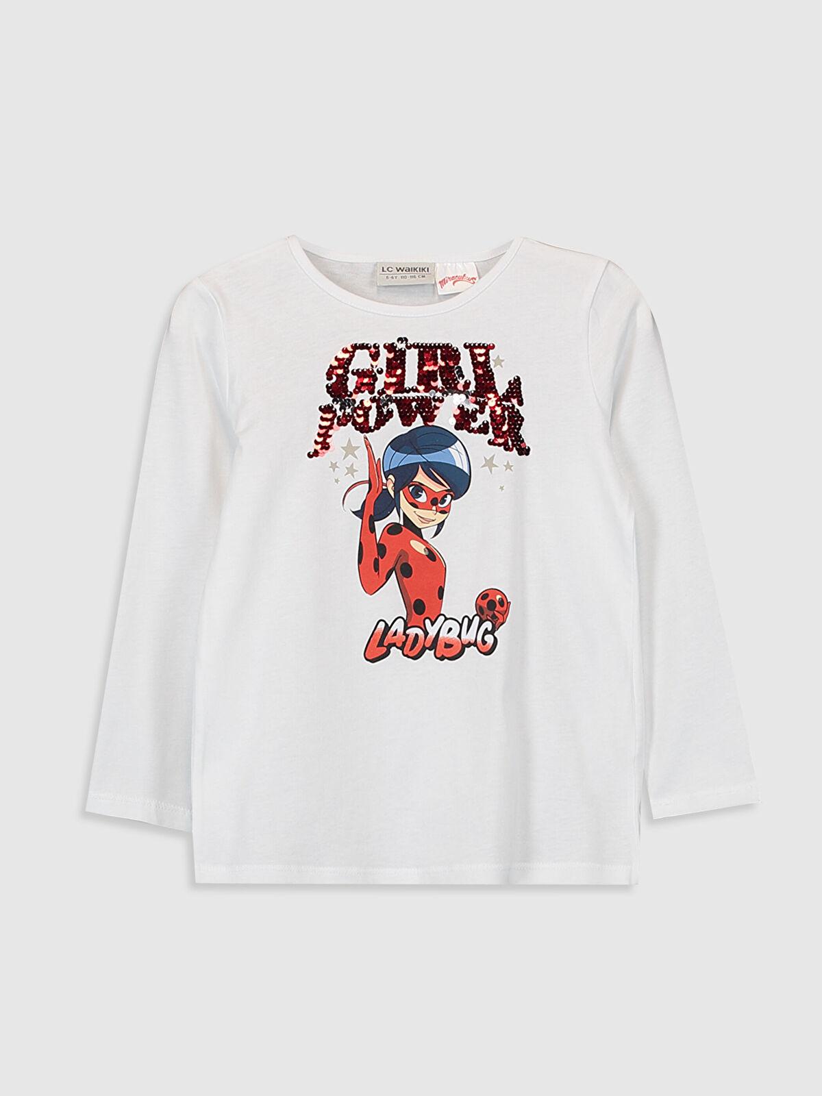 Kız Çocuk Miraculous Pamuklu Tişört - LC WAIKIKI