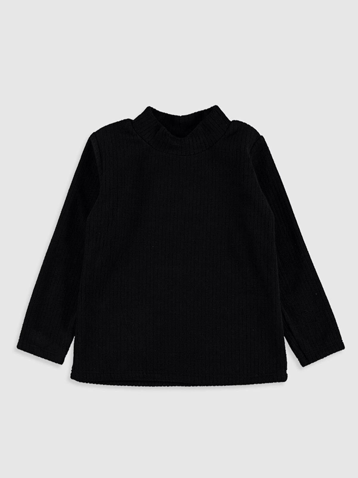 Kız Çocuk Balıkçı Yaka Basic Polar Tişört - LC WAIKIKI