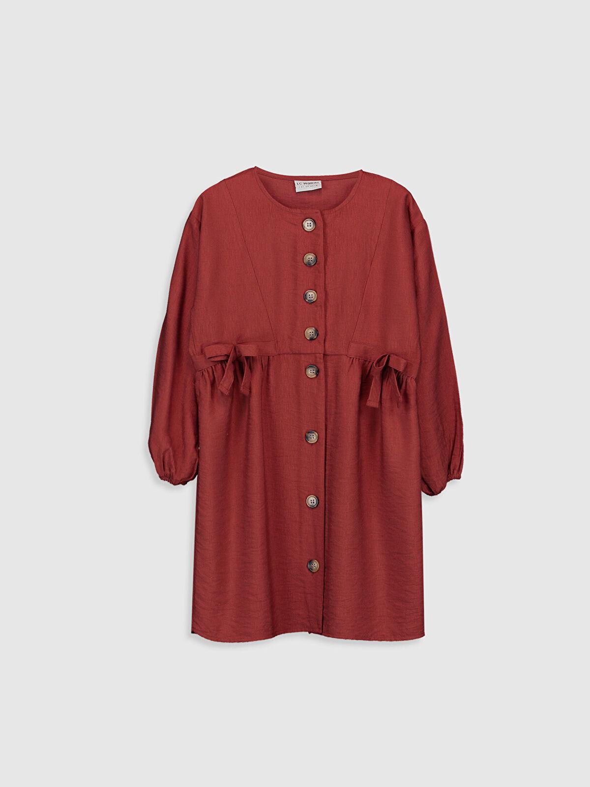 Kız Çocuk Fiyonk Detaylı Viskon Elbise - LC WAIKIKI