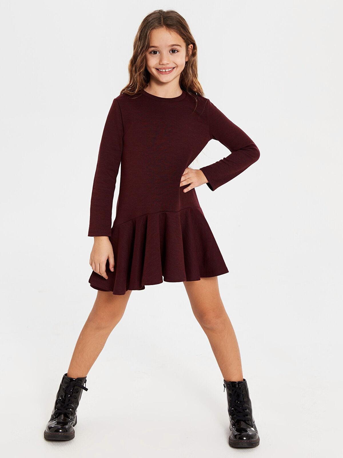Aile Koleksiyonu Kız Çocuk Basic Elbise - LC WAIKIKI