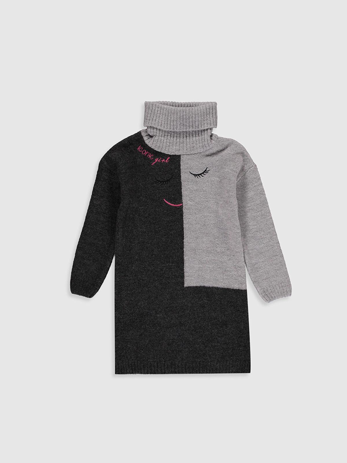 Kız Çocuk Balıkçı Yaka Triko Elbise - LC WAIKIKI