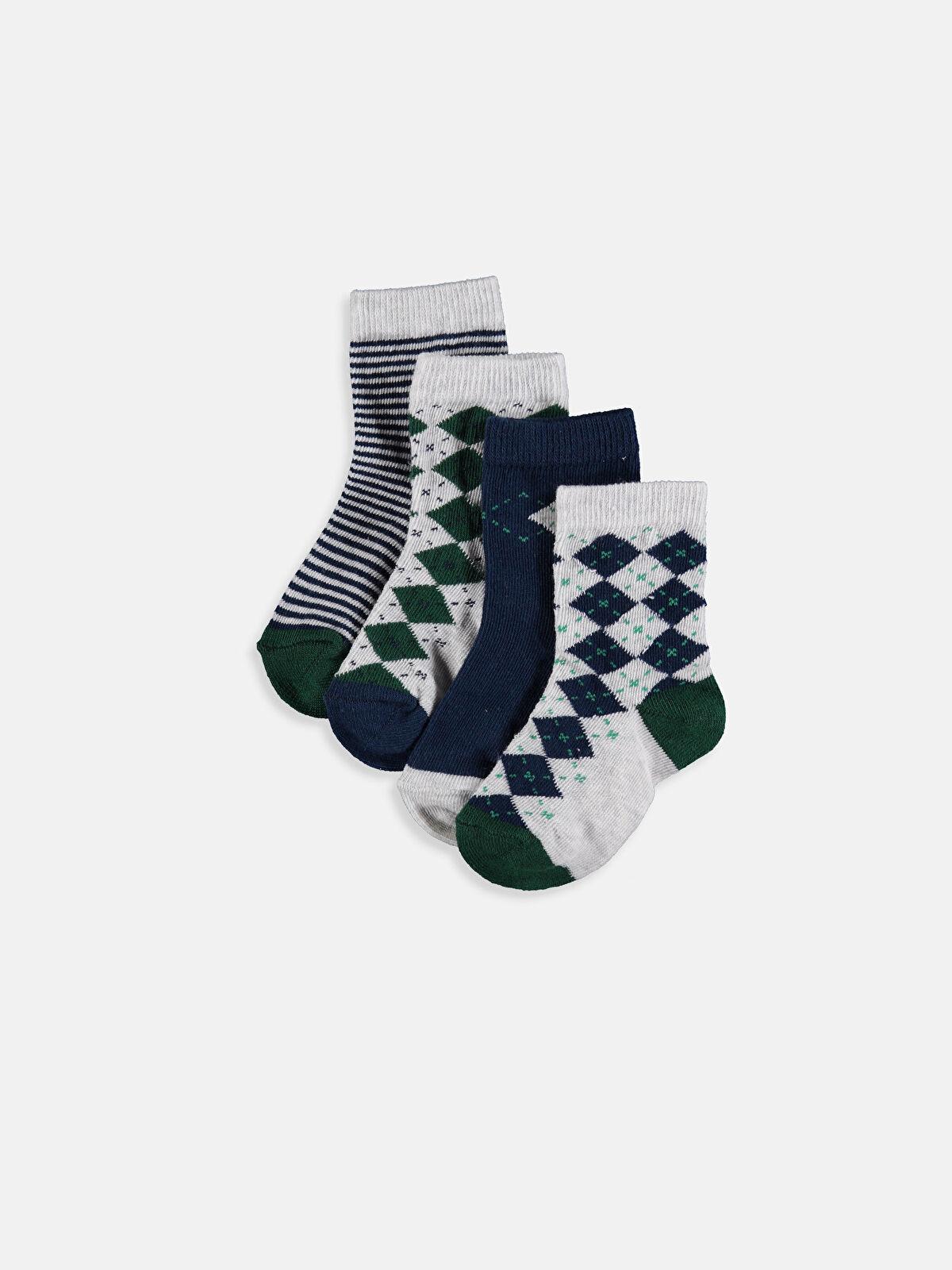 Erkek Bebek Soket Çorap 4'lü - LC WAIKIKI