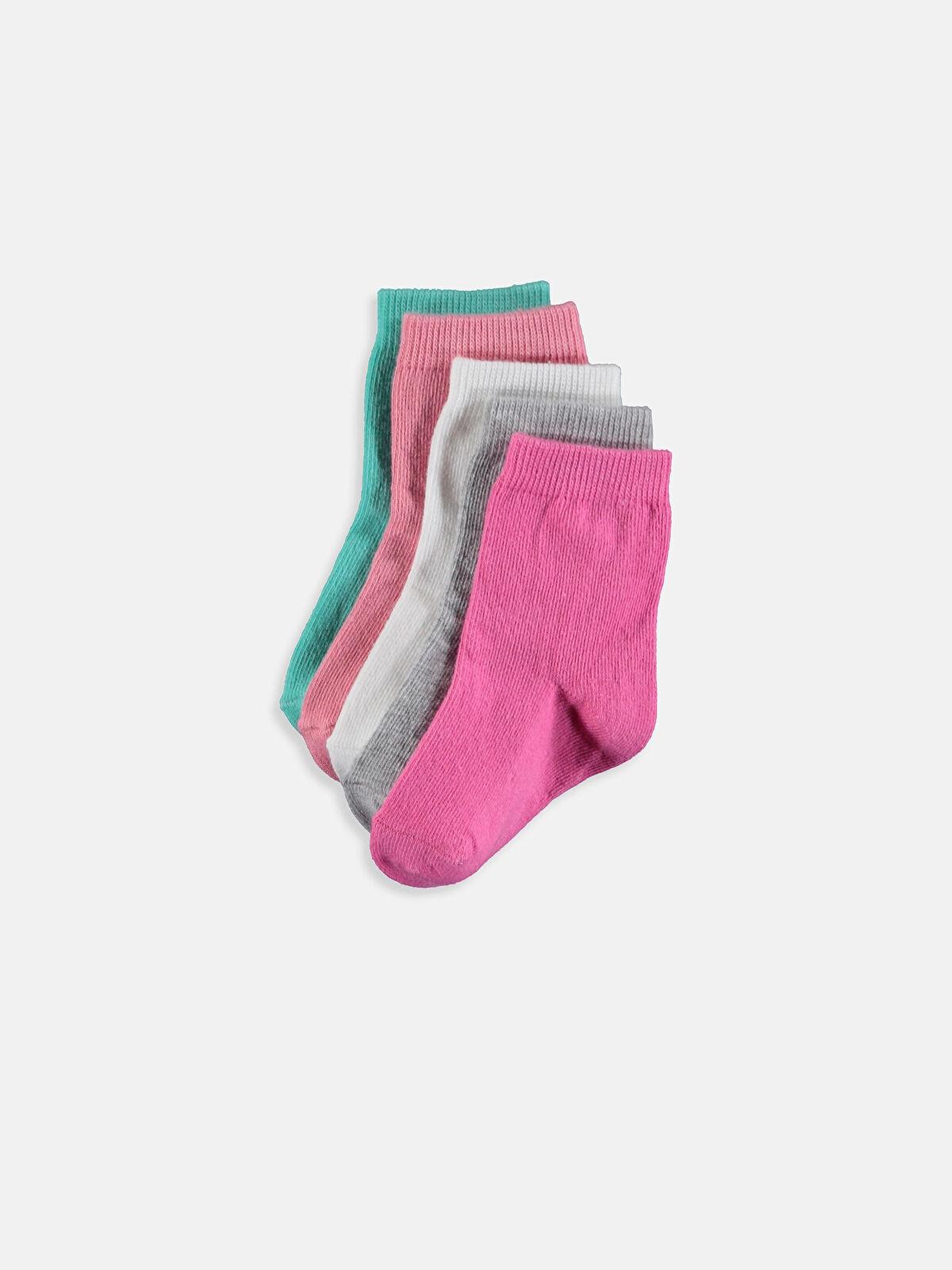 Kız Bebek Soket Çorap 5'li - LC WAIKIKI