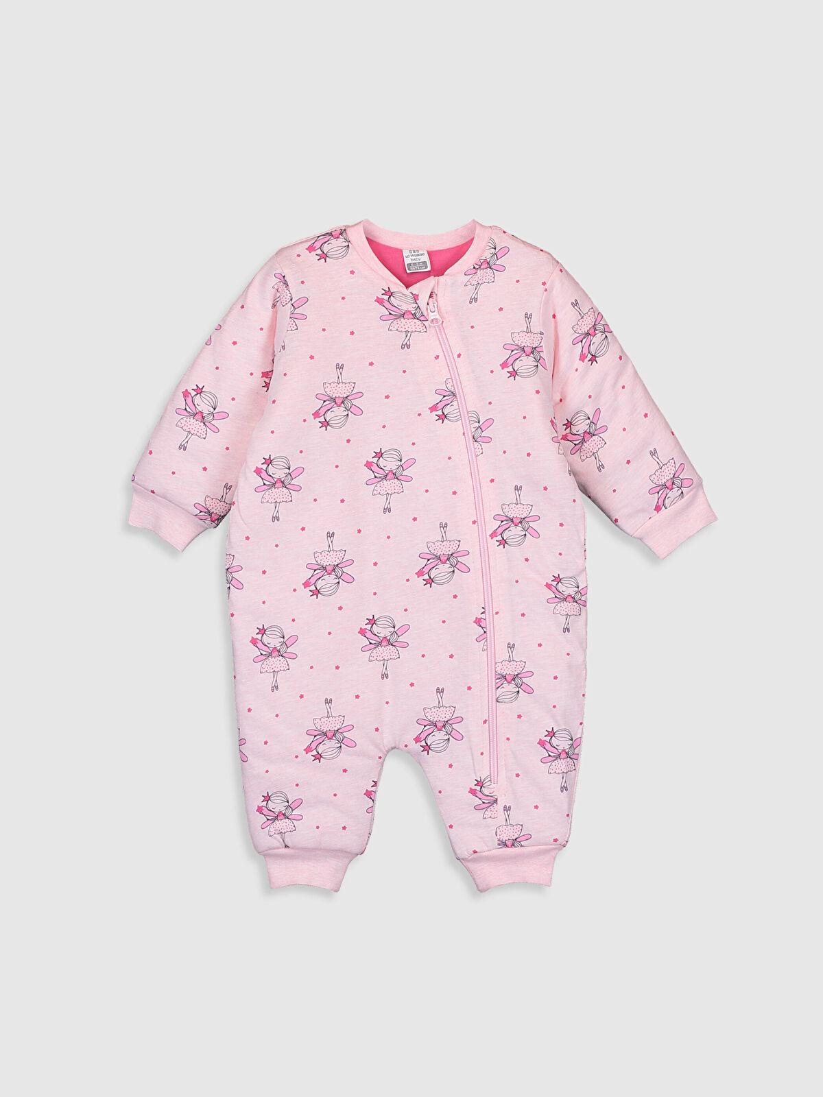 Kız Bebek Desenli Kalın Uyku Tulumu - LC WAIKIKI