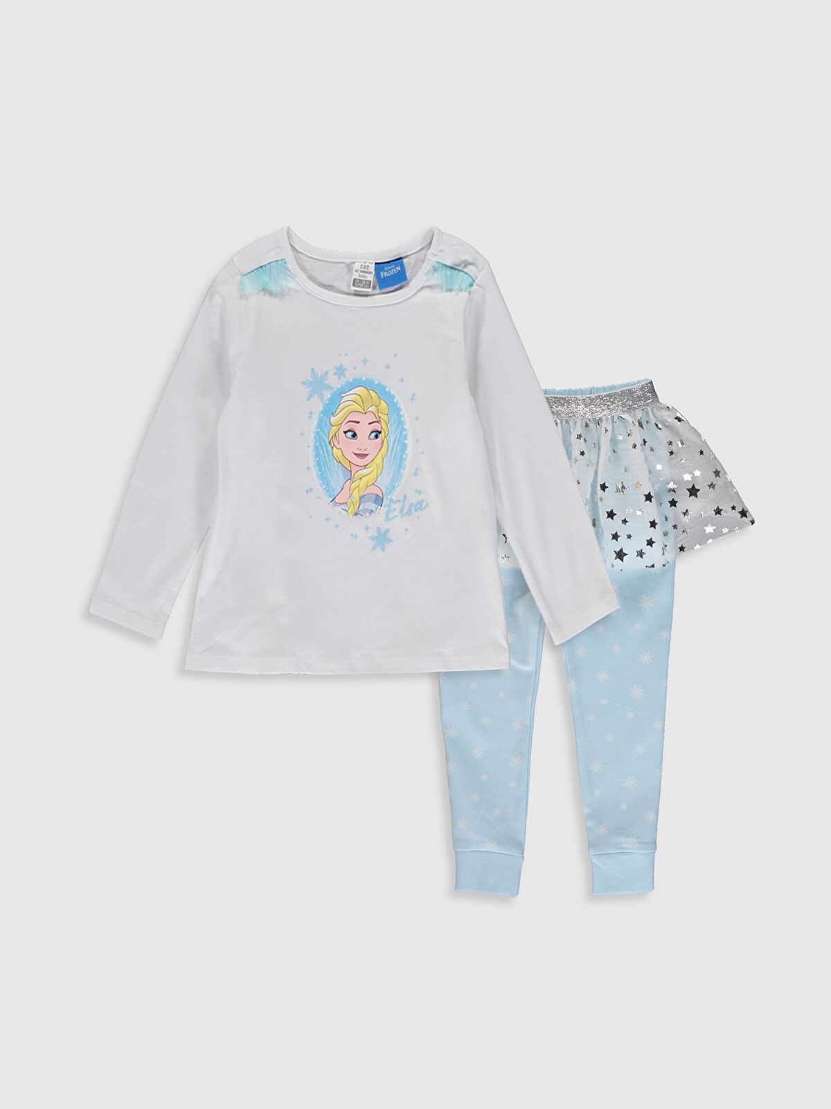 Kız Bebek Elsa Baskılı Pijama Takımı 3'lü - LC WAIKIKI
