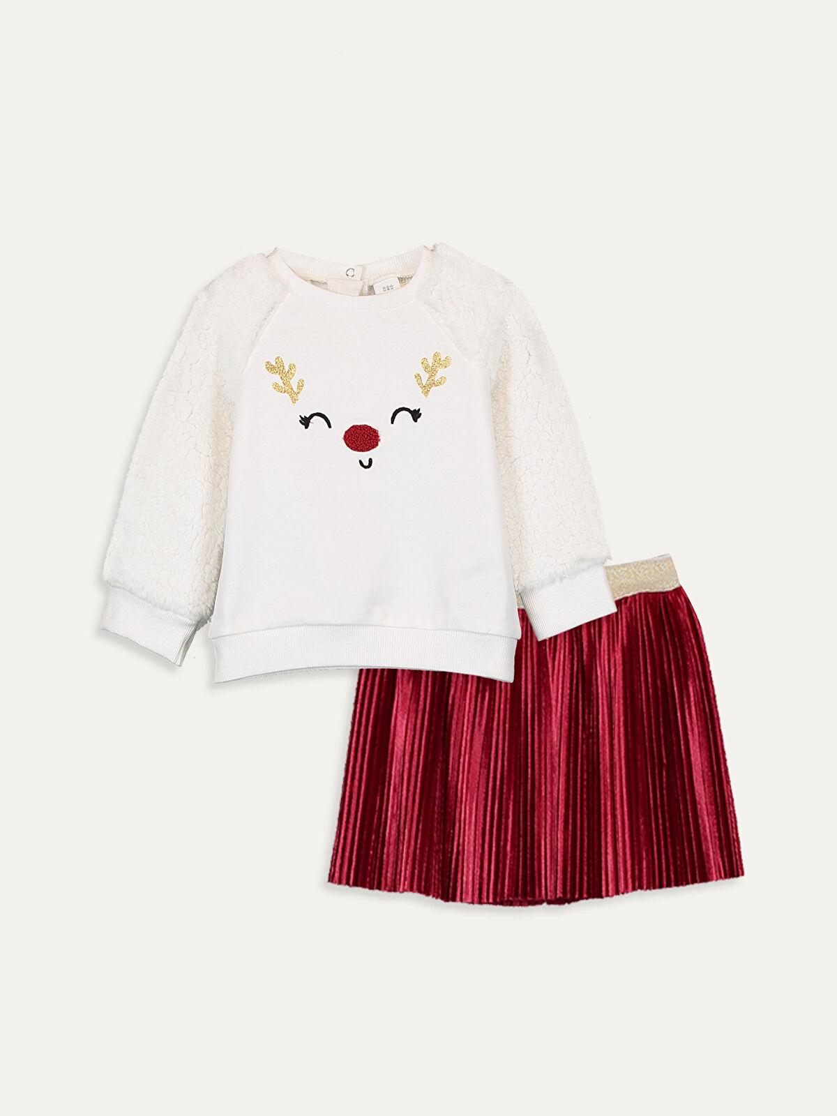 Kız Bebek Sweatshirt ve Etek Takım - LC WAIKIKI