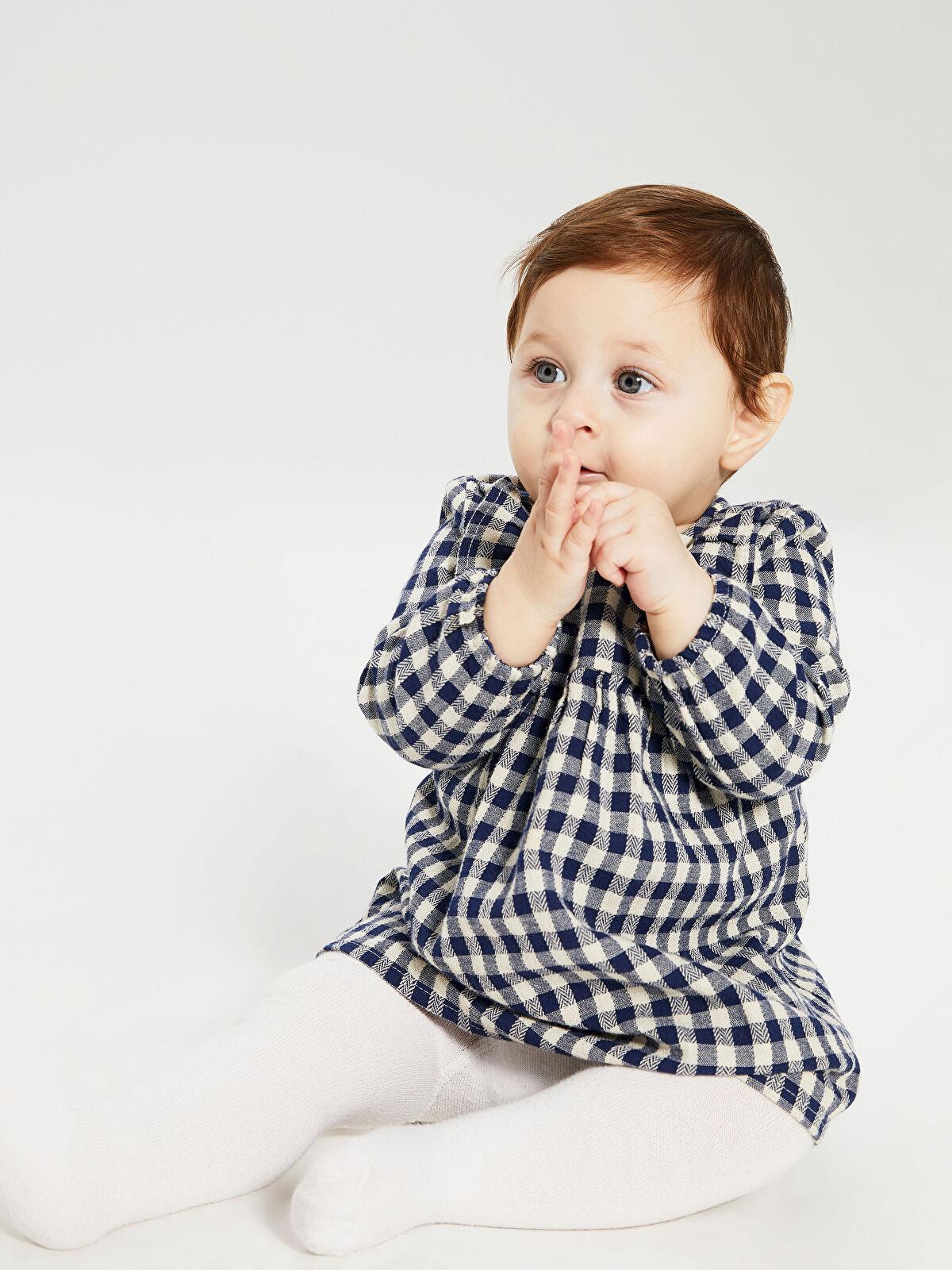 Kız Bebek Ekoseli Elbise - LC WAIKIKI