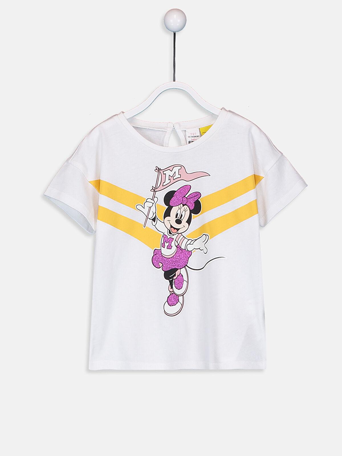 Kız Bebek Minnie Mouse Baskılı Tişört  - LC WAIKIKI