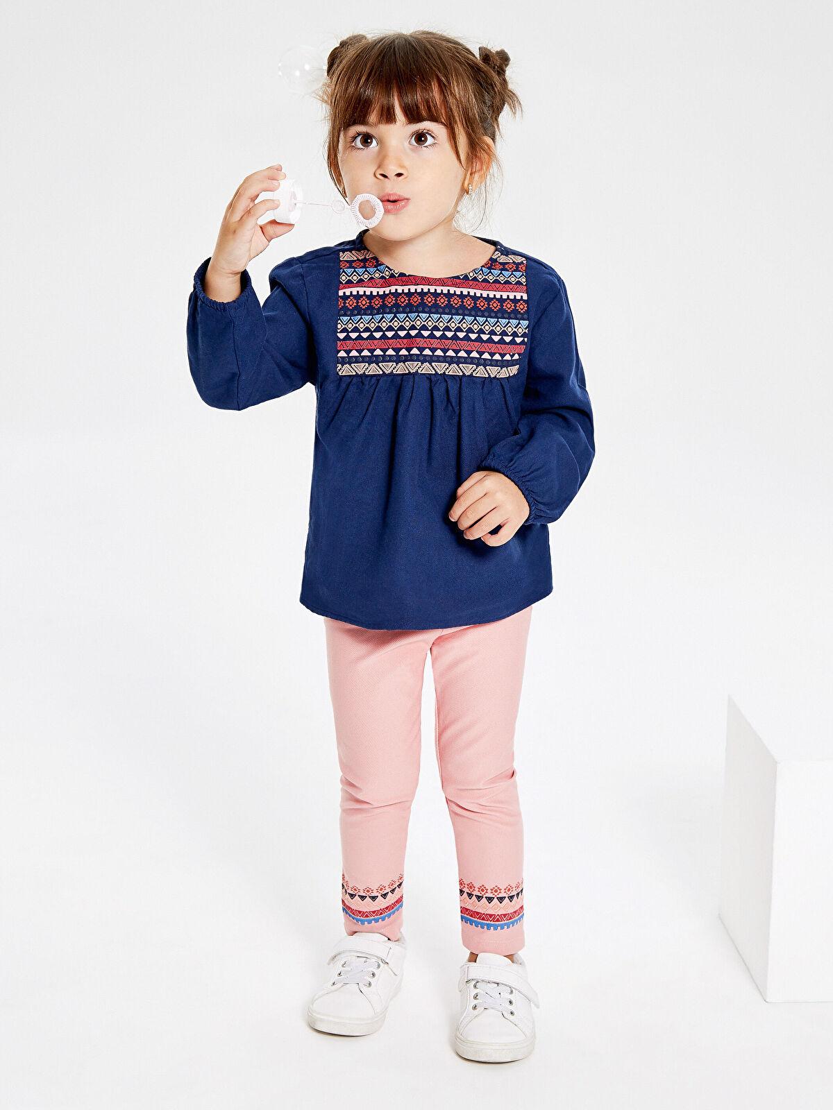 Kız Bebek Desenli Bluz ve Tayt - LC WAIKIKI