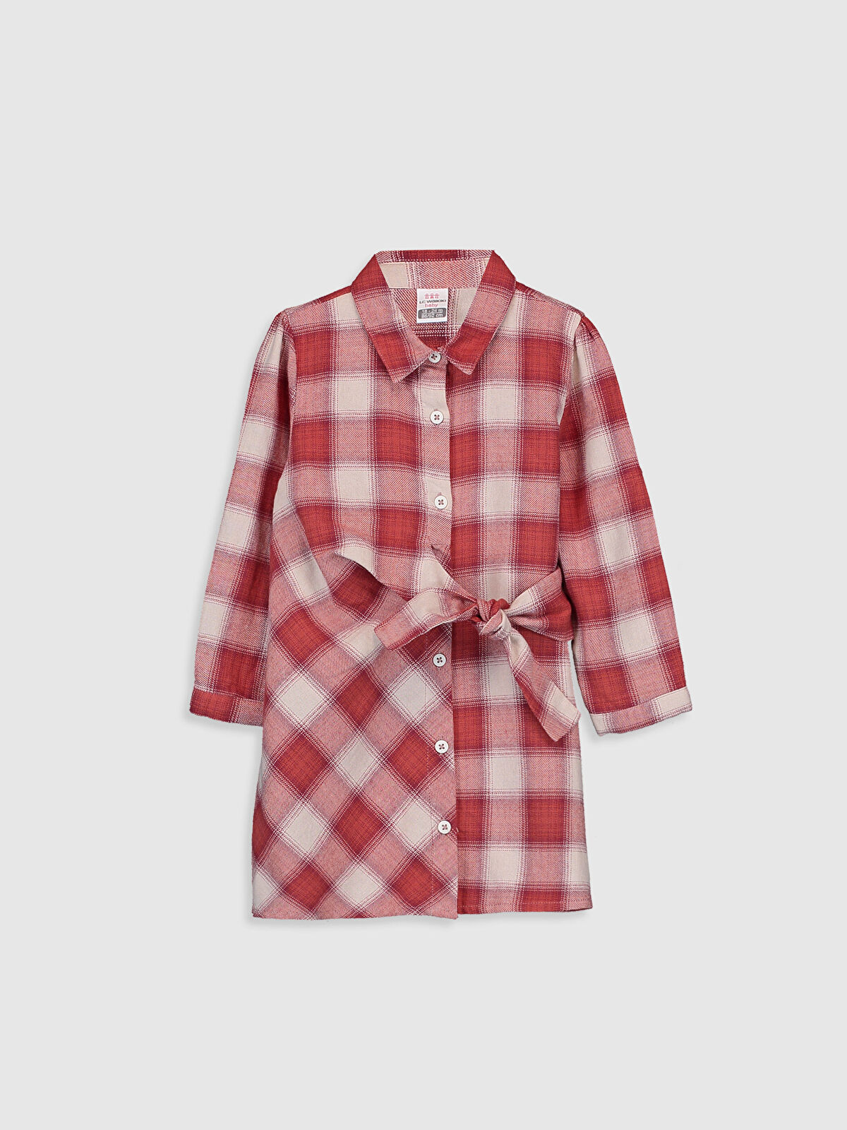 Kız Bebek Ekoseli Flanel Elbise - LC WAIKIKI