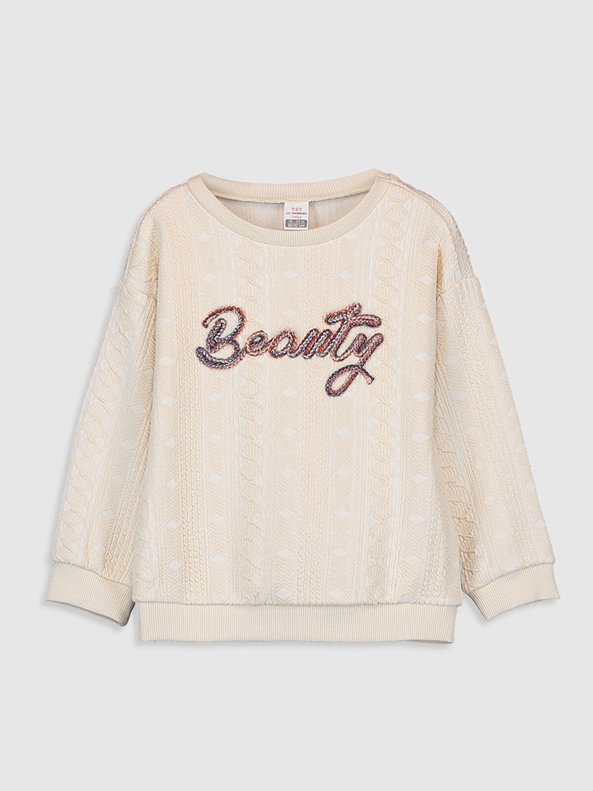 Kız Bebek Jakarlı Sweatshirt - LC WAIKIKI