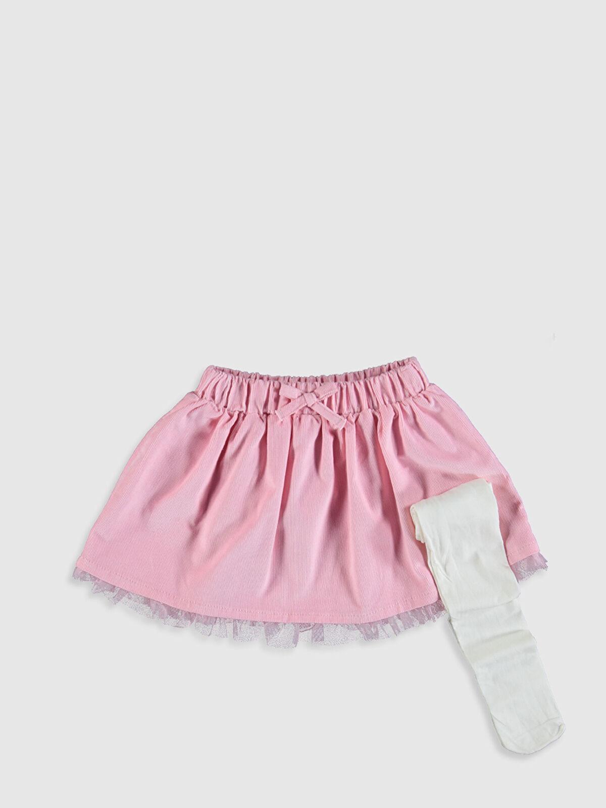 Kız Bebek Etek ve Külotlu Çorap - LC WAIKIKI
