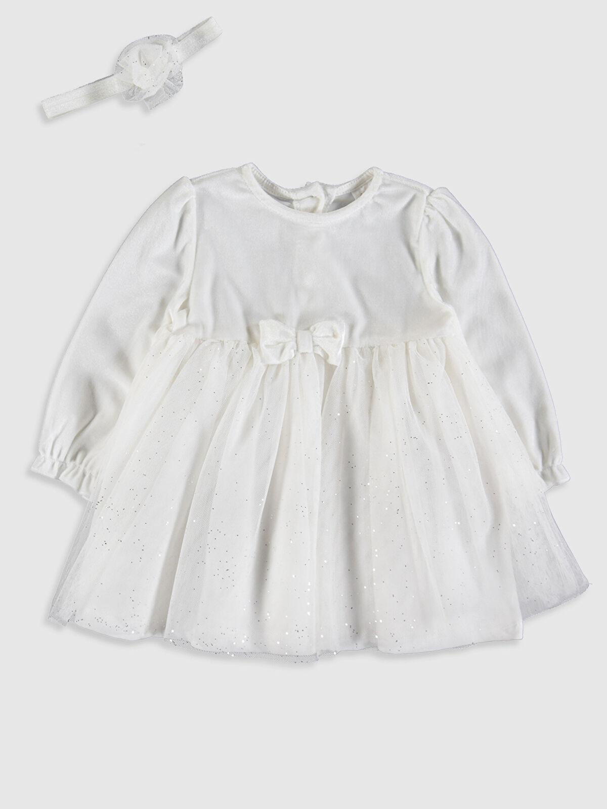 Kız Bebek Elbise ve Saç Bandı - LC WAIKIKI