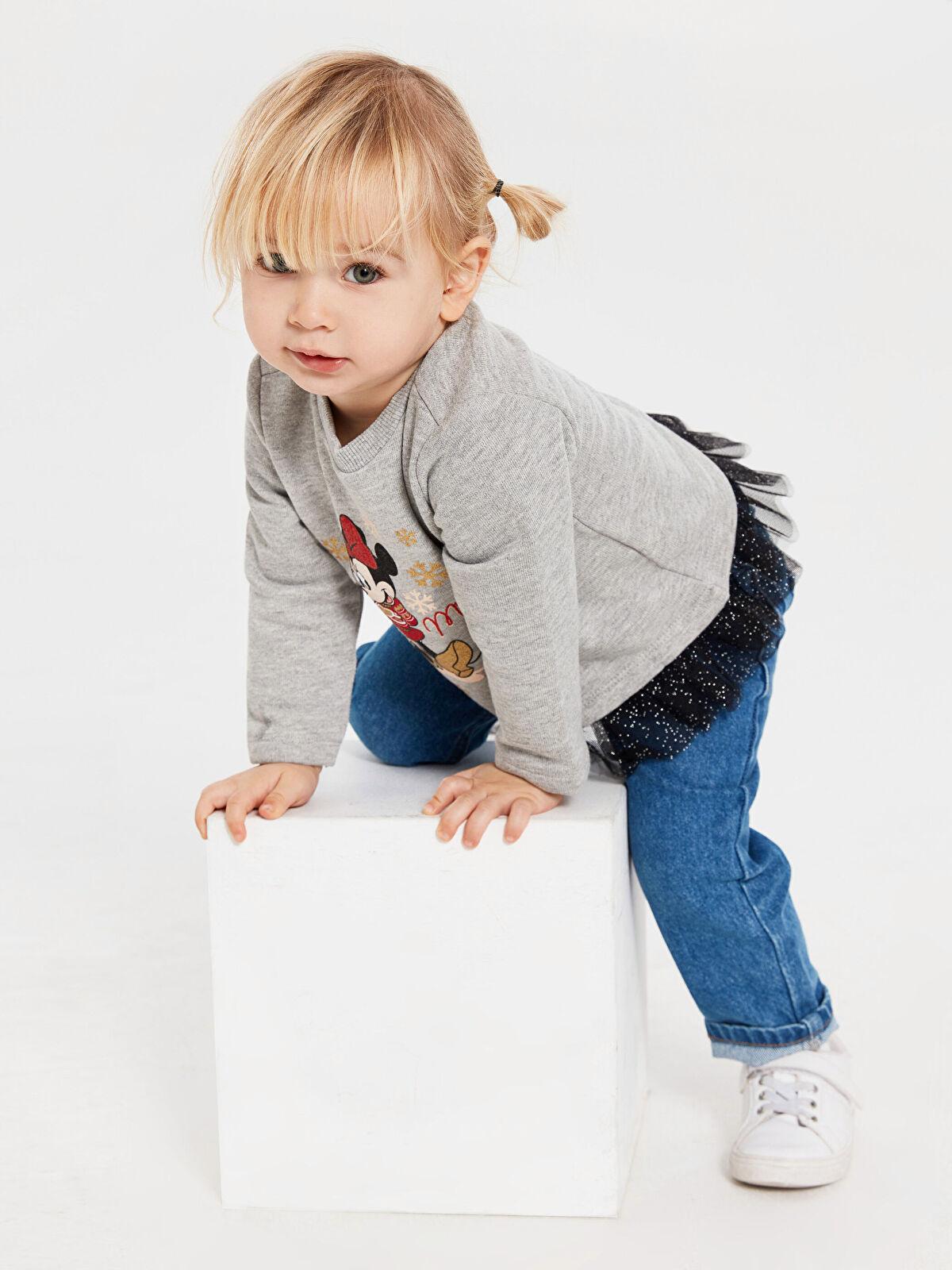 Kız Bebek Minnie Mouse Baskılı Sweatshirt - LC WAIKIKI