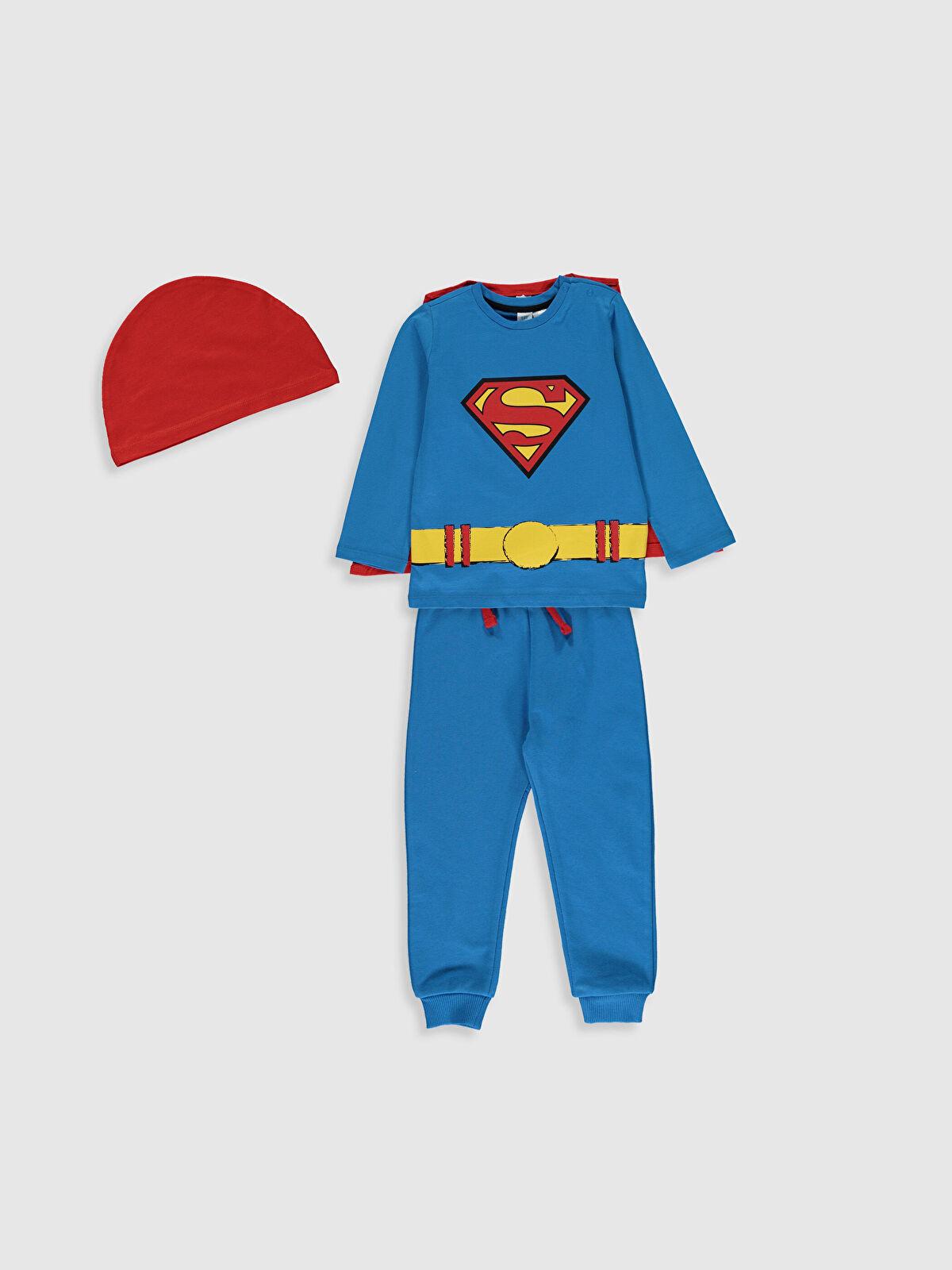 Erkek Bebek Süperman Baskılı 4'lü Takım - LC WAIKIKI