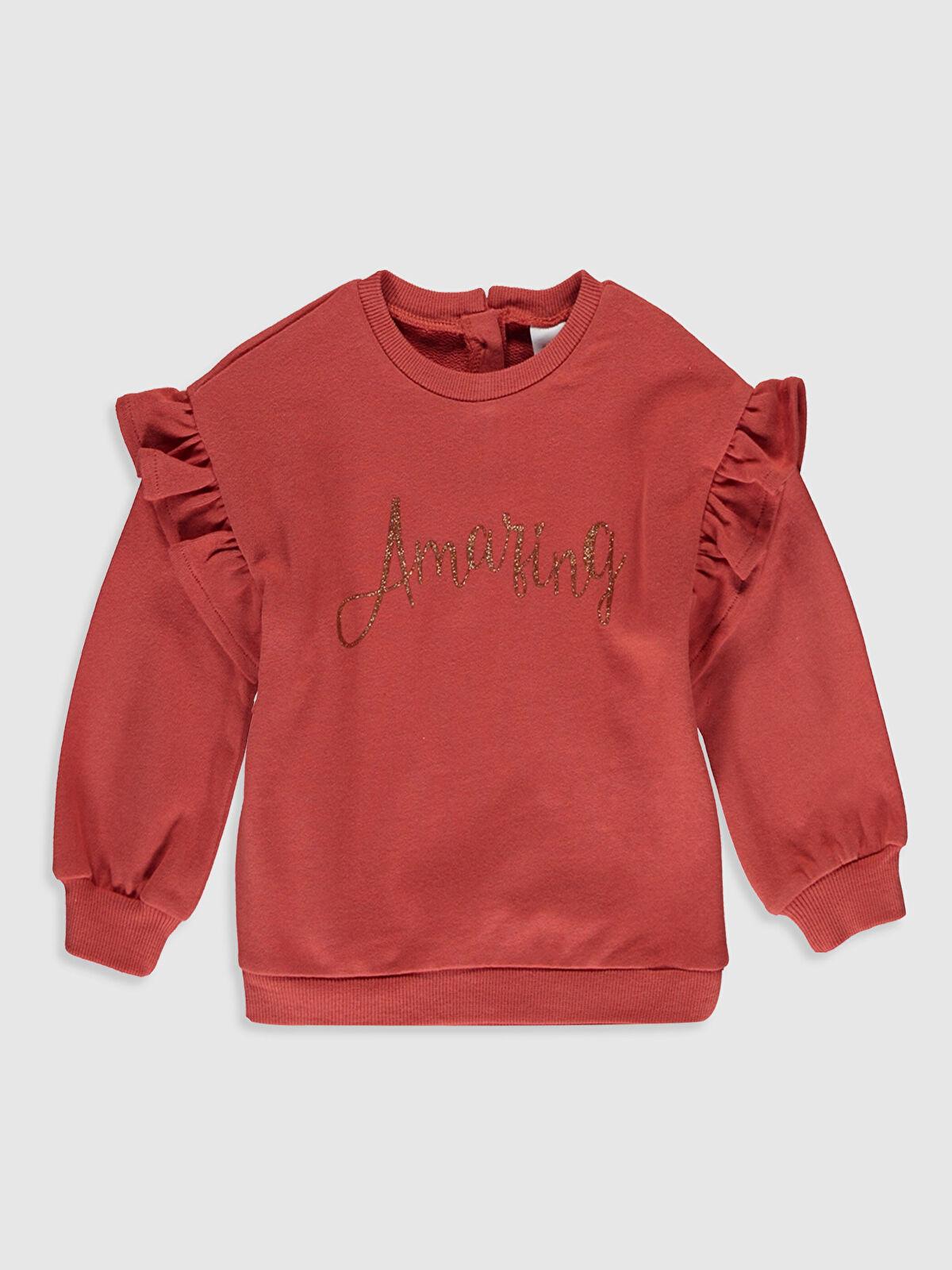 Kız Bebek Yazı Baskılı Sweatshirt - LC WAIKIKI