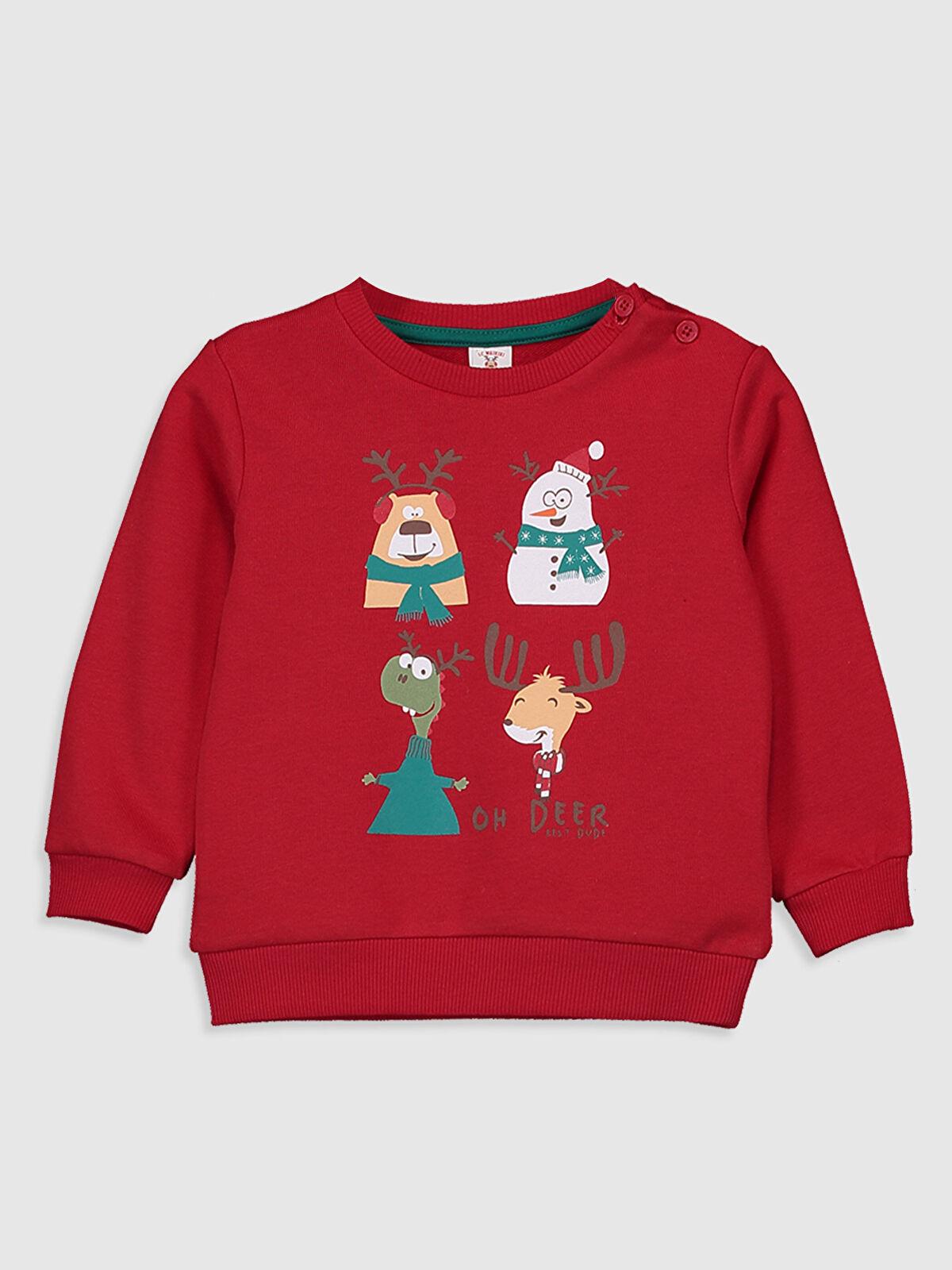 Erkek Bebek Yılbaşı Temalı Sweatshirt - LC WAIKIKI