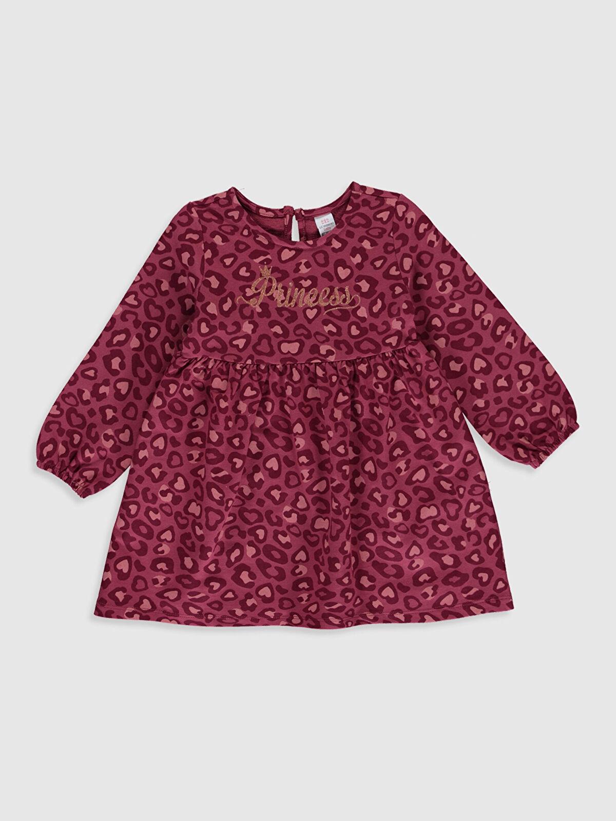 Kız Bebek Desenli Pamuklu Elbise - LC WAIKIKI