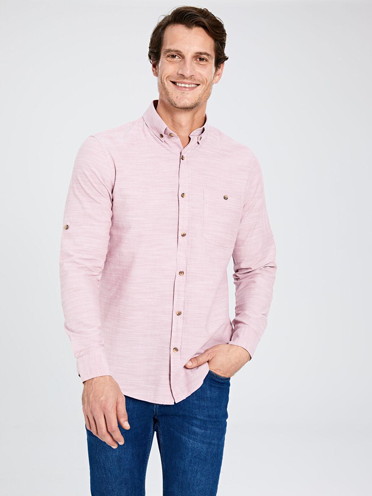 Regular Fit Kırçıllı Gömlek - LC WAIKIKI